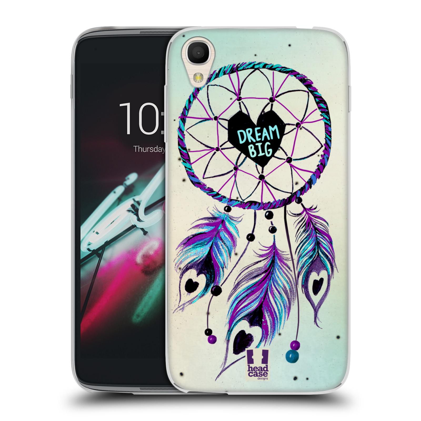 "Silikonové pouzdro na mobil Alcatel One Touch 6039Y Idol 3 HEAD CASE Lapač Assorted Dream Big Srdce (Silikonový kryt či obal na mobilní telefon Alcatel One Touch Idol 3 OT-6039Y s 4,7"" displejem)"