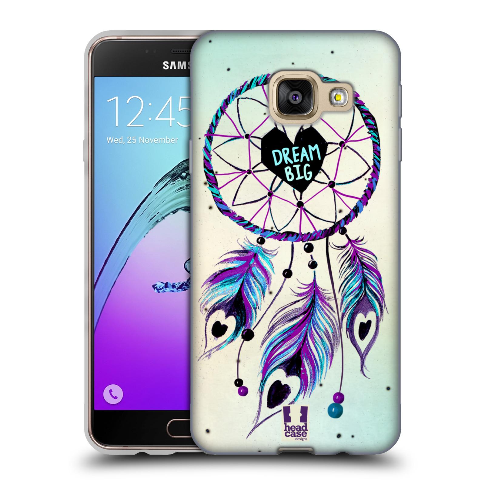 Silikonové pouzdro na mobil Samsung Galaxy A3 (2016) HEAD CASE Lapač Assorted Dream Big Srdce
