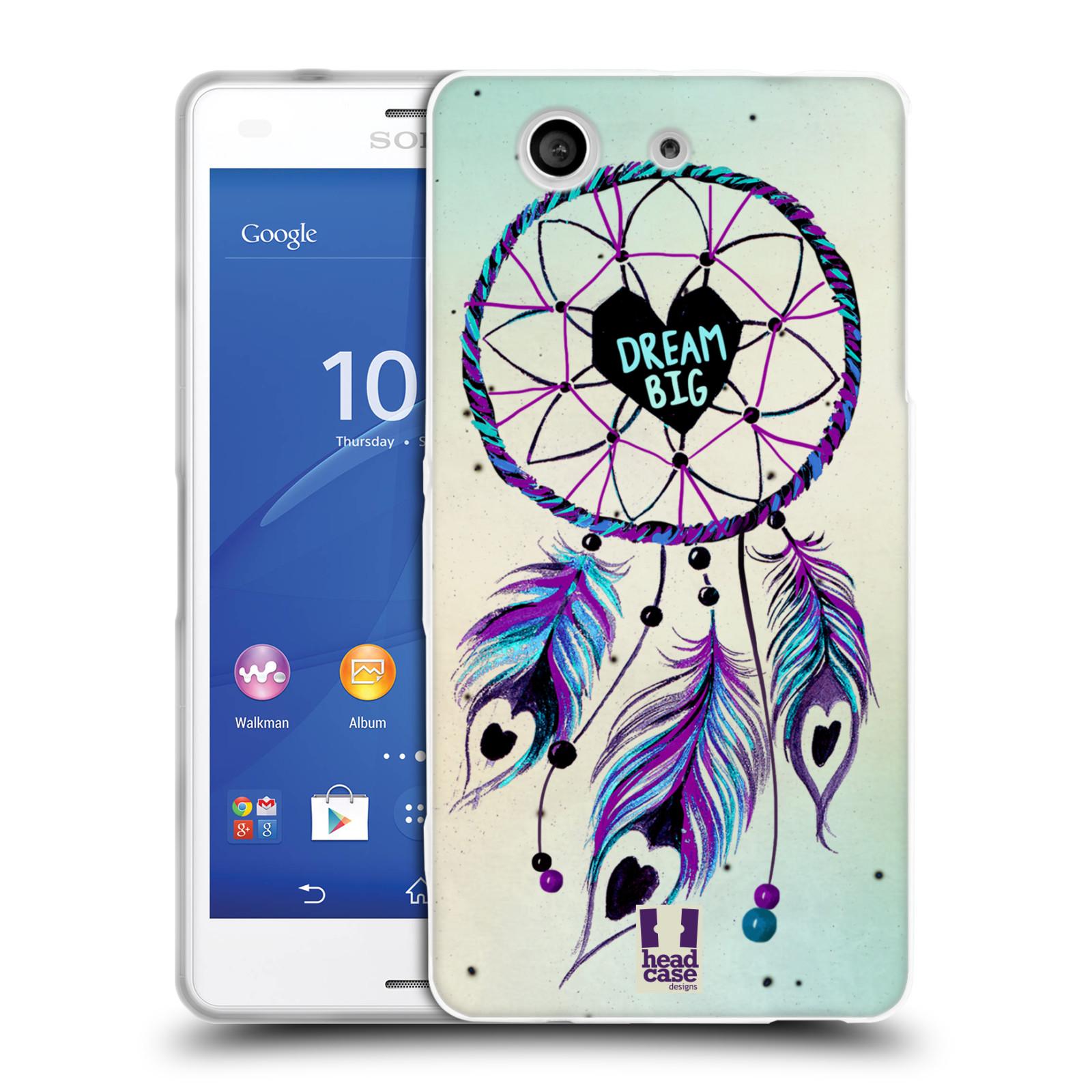 Silikonové pouzdro na mobil Sony Xperia Z3 Compact D5803 HEAD CASE Lapač Assorted Dream Big Srdce