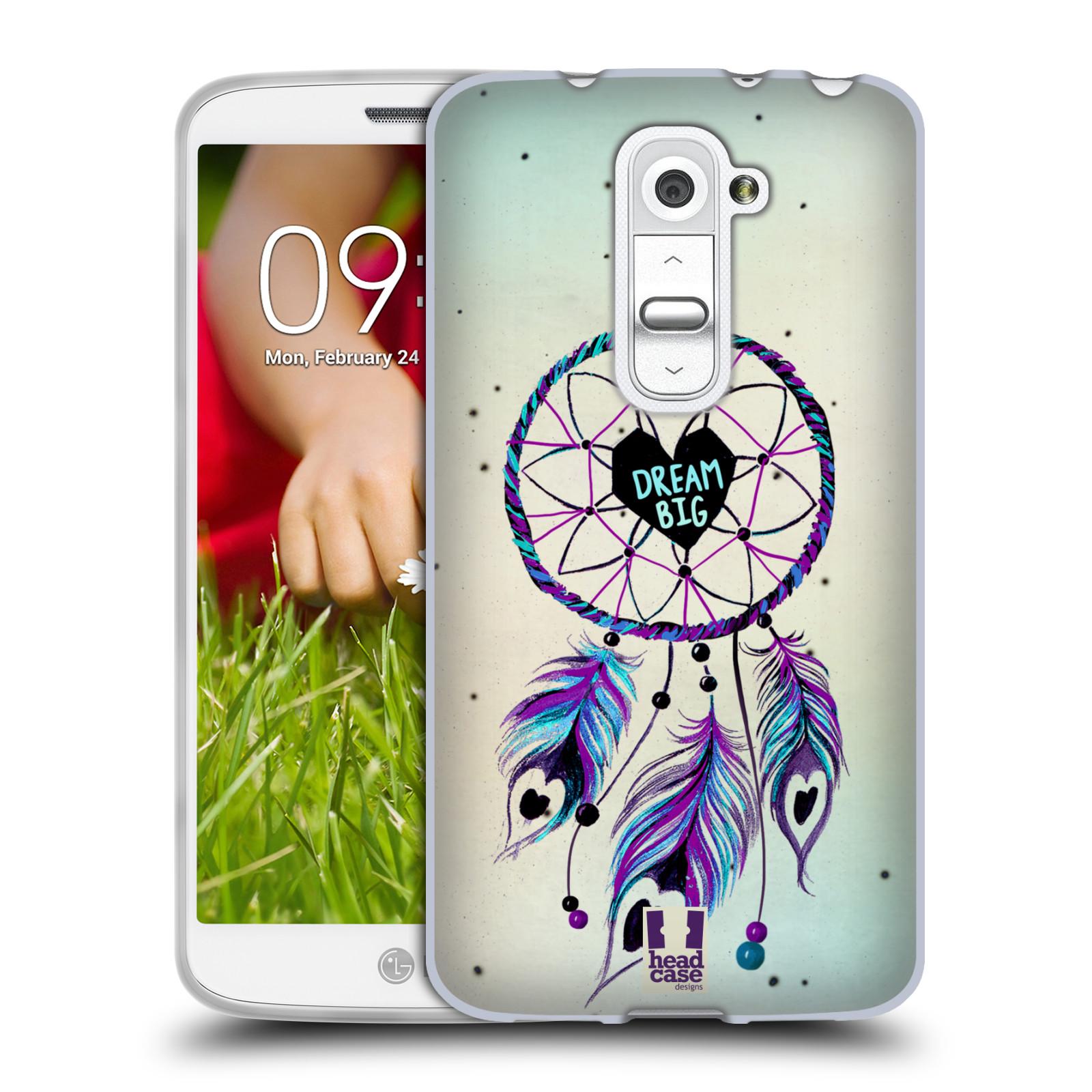 Silikonové pouzdro na mobil LG G2 Mini HEAD CASE Lapač Assorted Dream Big Srdce (Silikonový kryt či obal na mobilní telefon LG G2 Mini D620)