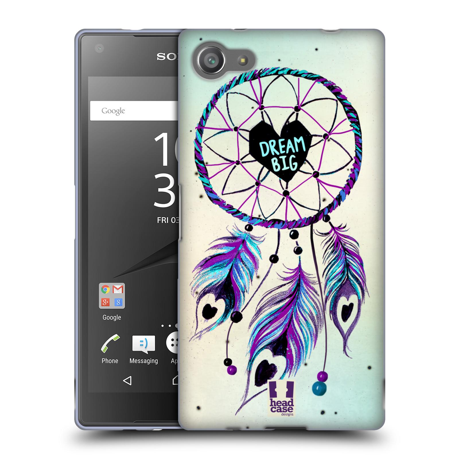 Silikonové pouzdro na mobil Sony Xperia Z5 Compact HEAD CASE Lapač Assorted Dream Big Srdce
