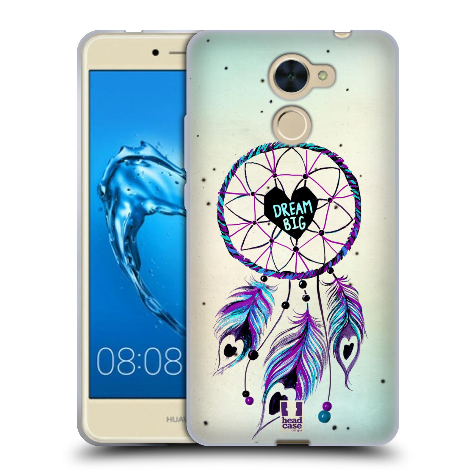 Silikonové pouzdro na mobil Huawei Y7 - Head Case - Lapač Assorted Dream Big Srdce