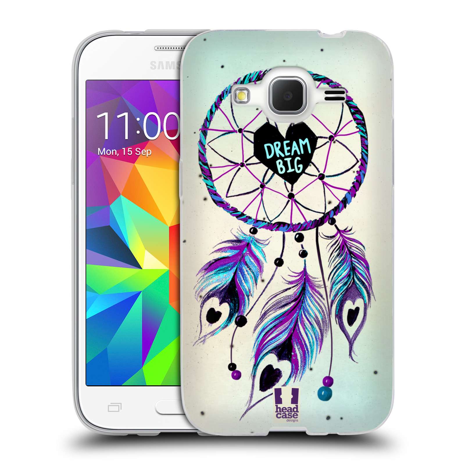 Silikonové pouzdro na mobil Samsung Galaxy Core Prime VE HEAD CASE Lapač Assorted Dream Big Srdce