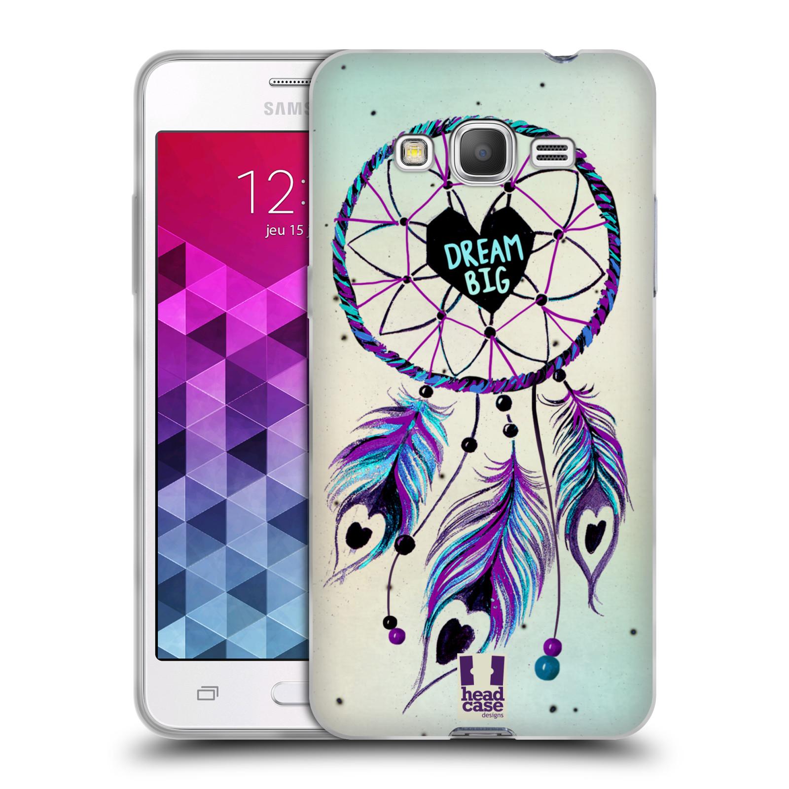 Silikonové pouzdro na mobil Samsung Galaxy Grand Prime HEAD CASE Lapač Assorted Dream Big Srdce
