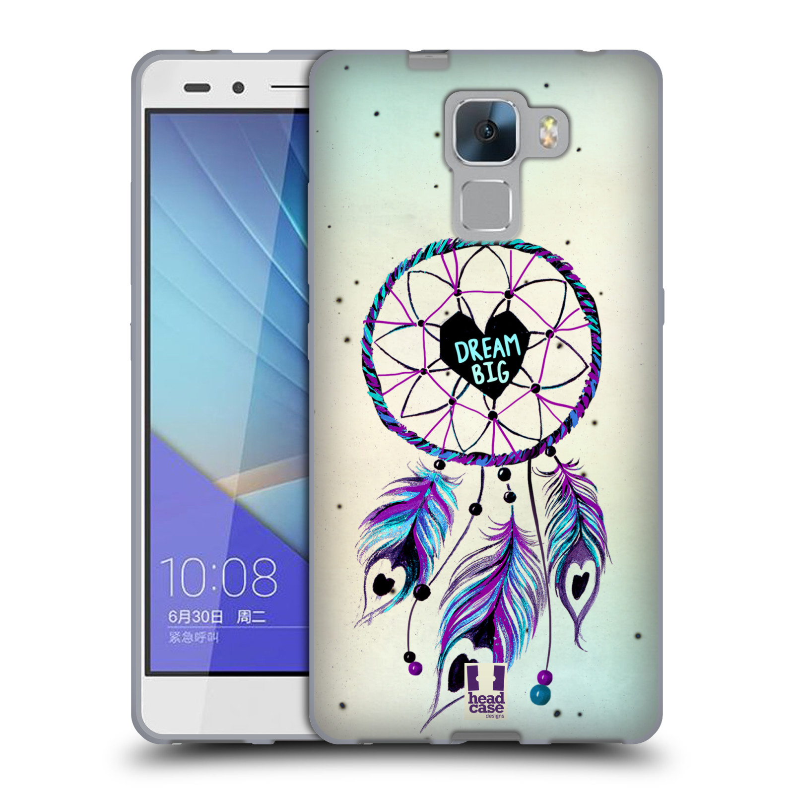 Silikonové pouzdro na mobil Honor 7 HEAD CASE Lapač Assorted Dream Big Srdce