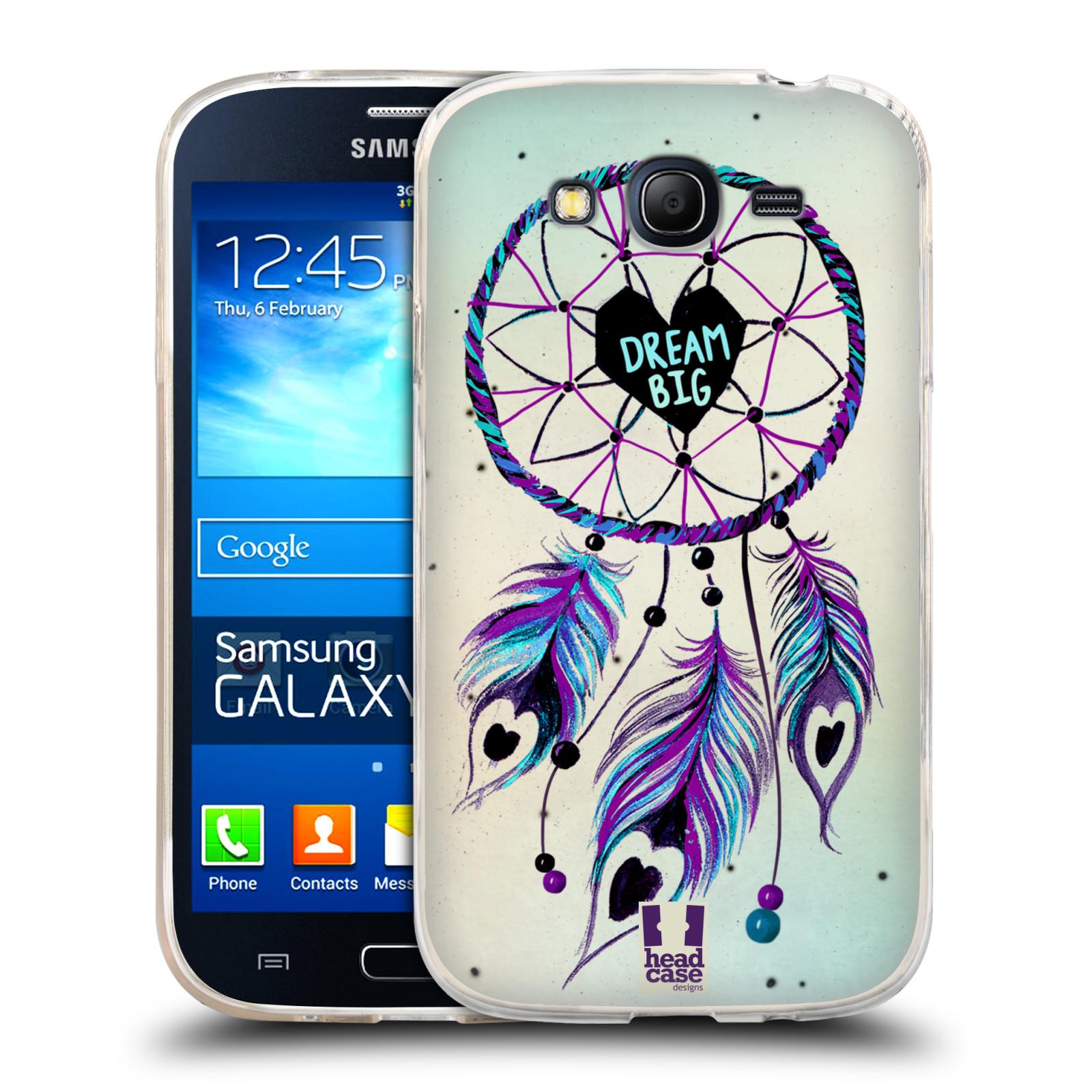 Silikonové pouzdro na mobil Samsung Galaxy Grand Neo Plus HEAD CASE Lapač Assorted Dream Big Srdce