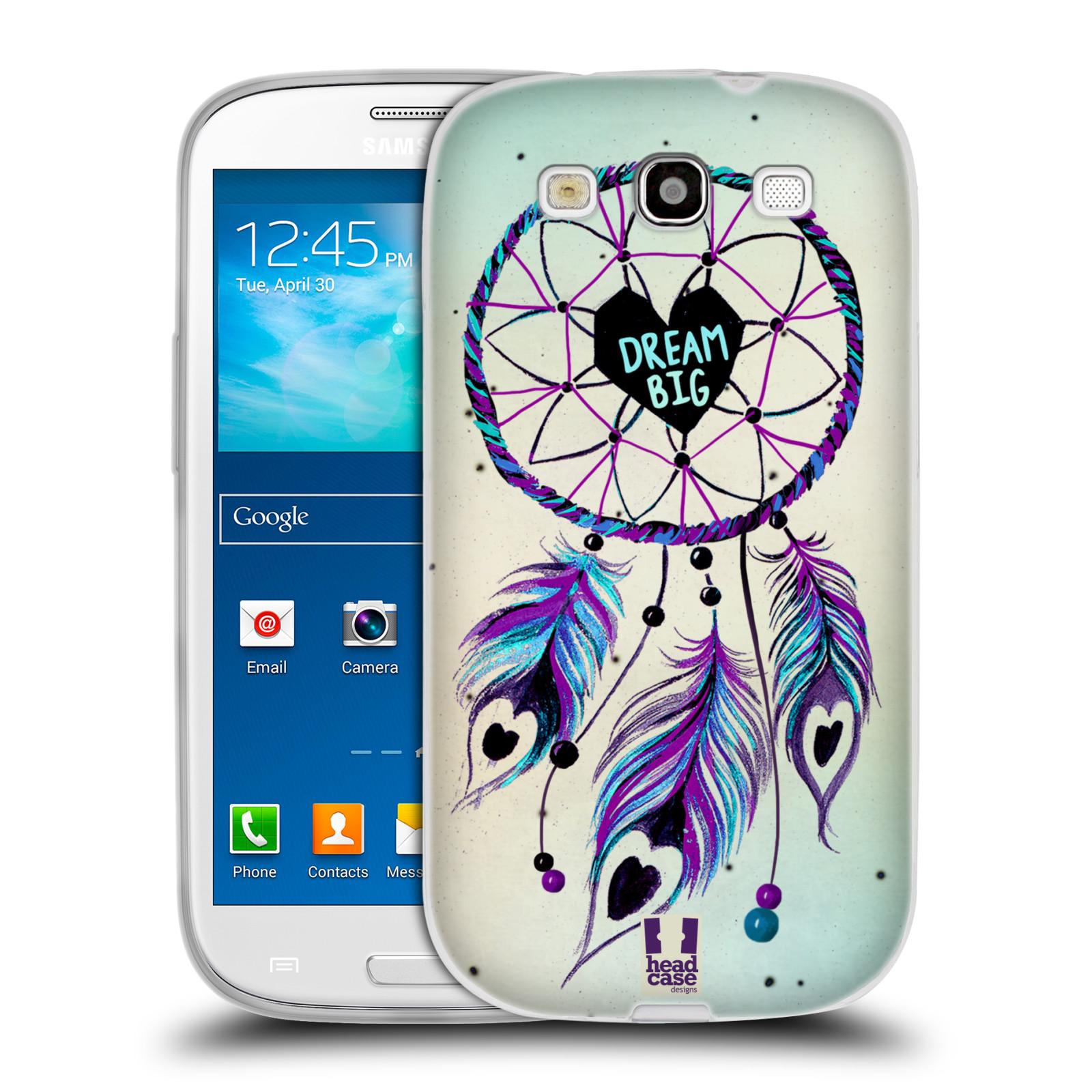 Silikonové pouzdro na mobil Samsung Galaxy S3 Neo HEAD CASE Lapač Assorted Dream Big Srdce