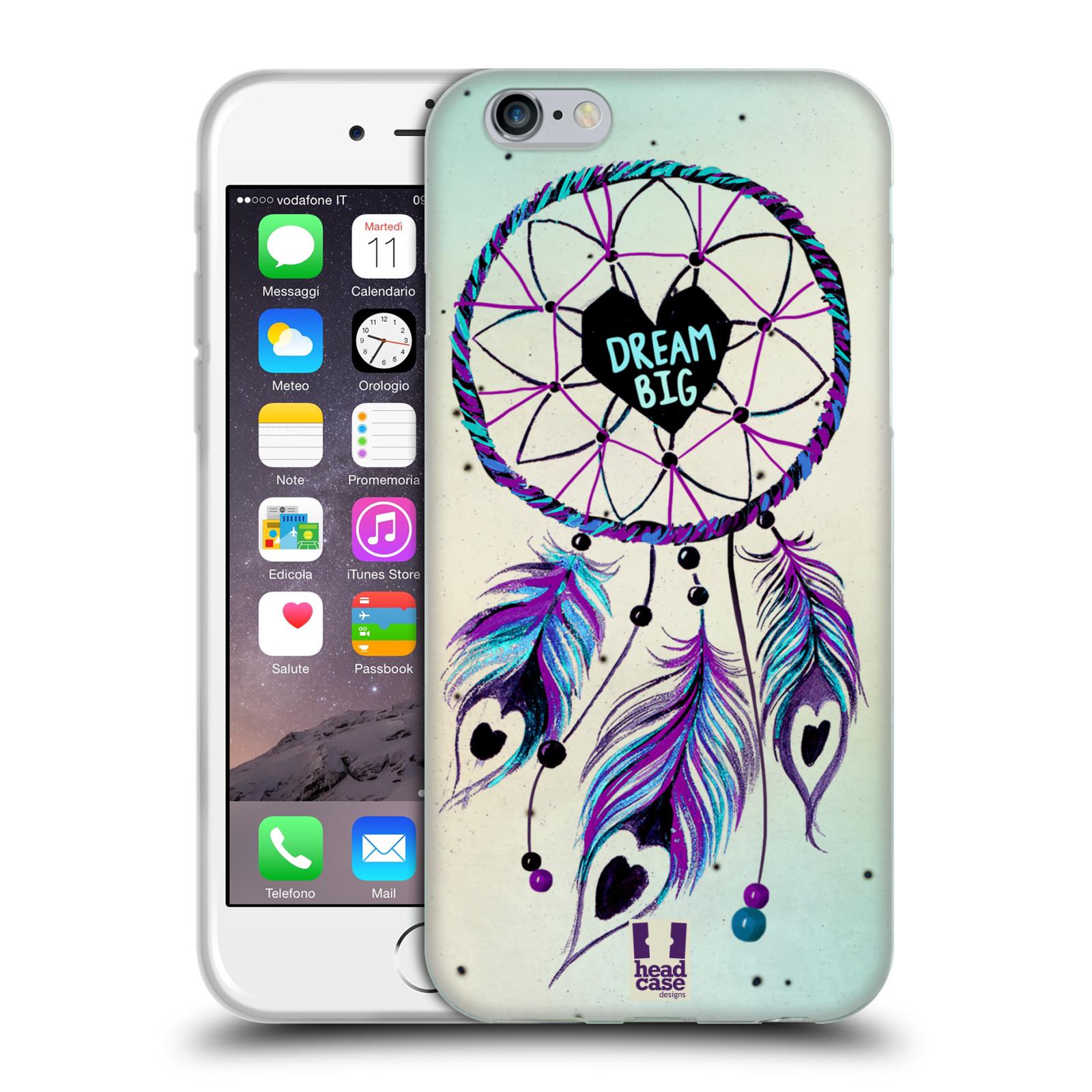 Silikonové pouzdro na mobil Apple iPhone 6 HEAD CASE Lapač Assorted Dream Big Srdce