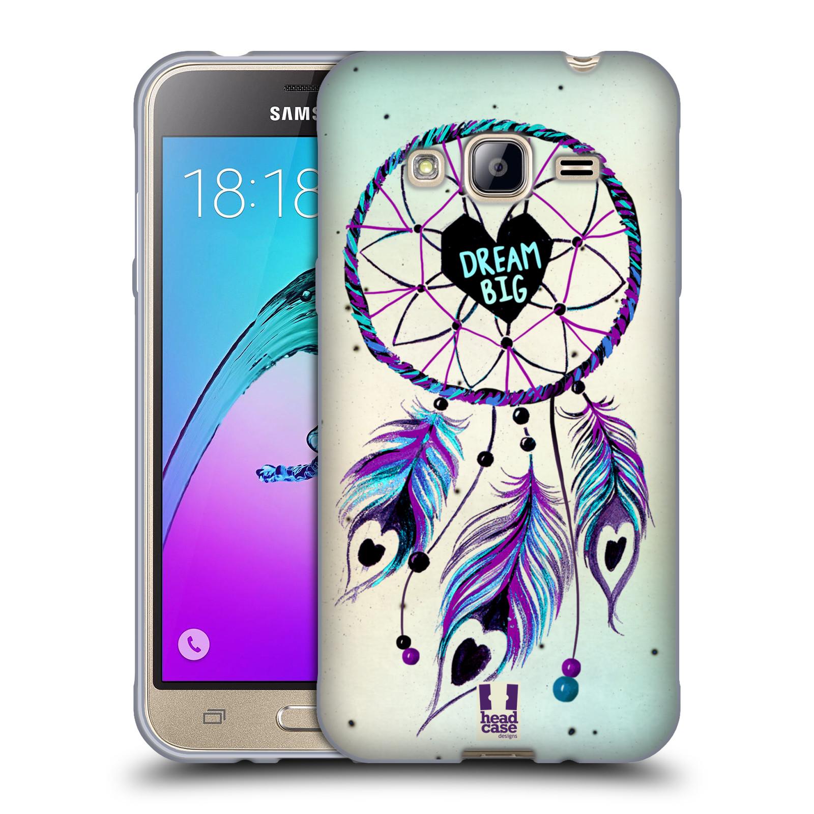 Silikonové pouzdro na mobil Samsung Galaxy J3 (2016) HEAD CASE Lapač Assorted Dream Big Srdce