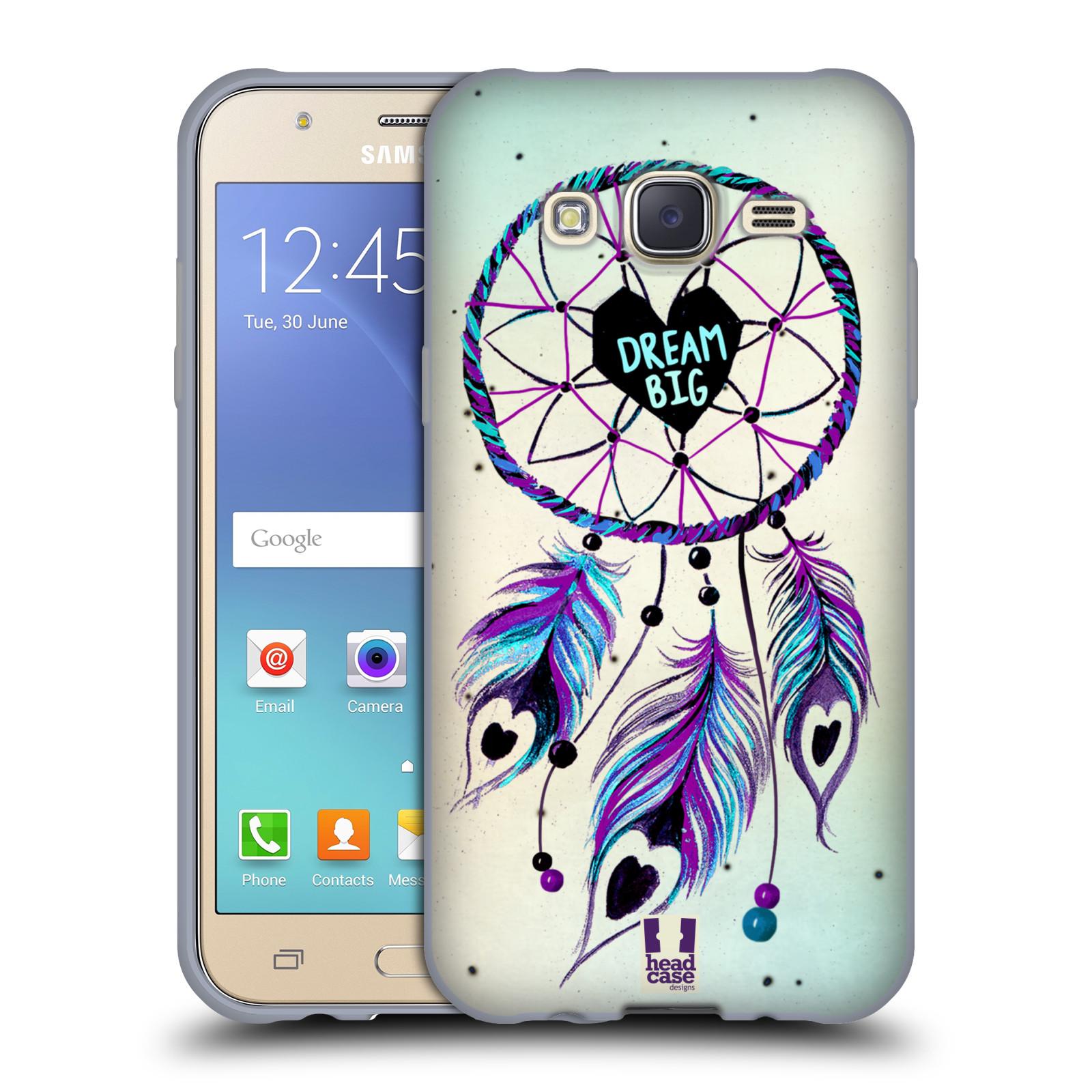 Silikonové pouzdro na mobil Samsung Galaxy J5 HEAD CASE Lapač Assorted Dream Big Srdce