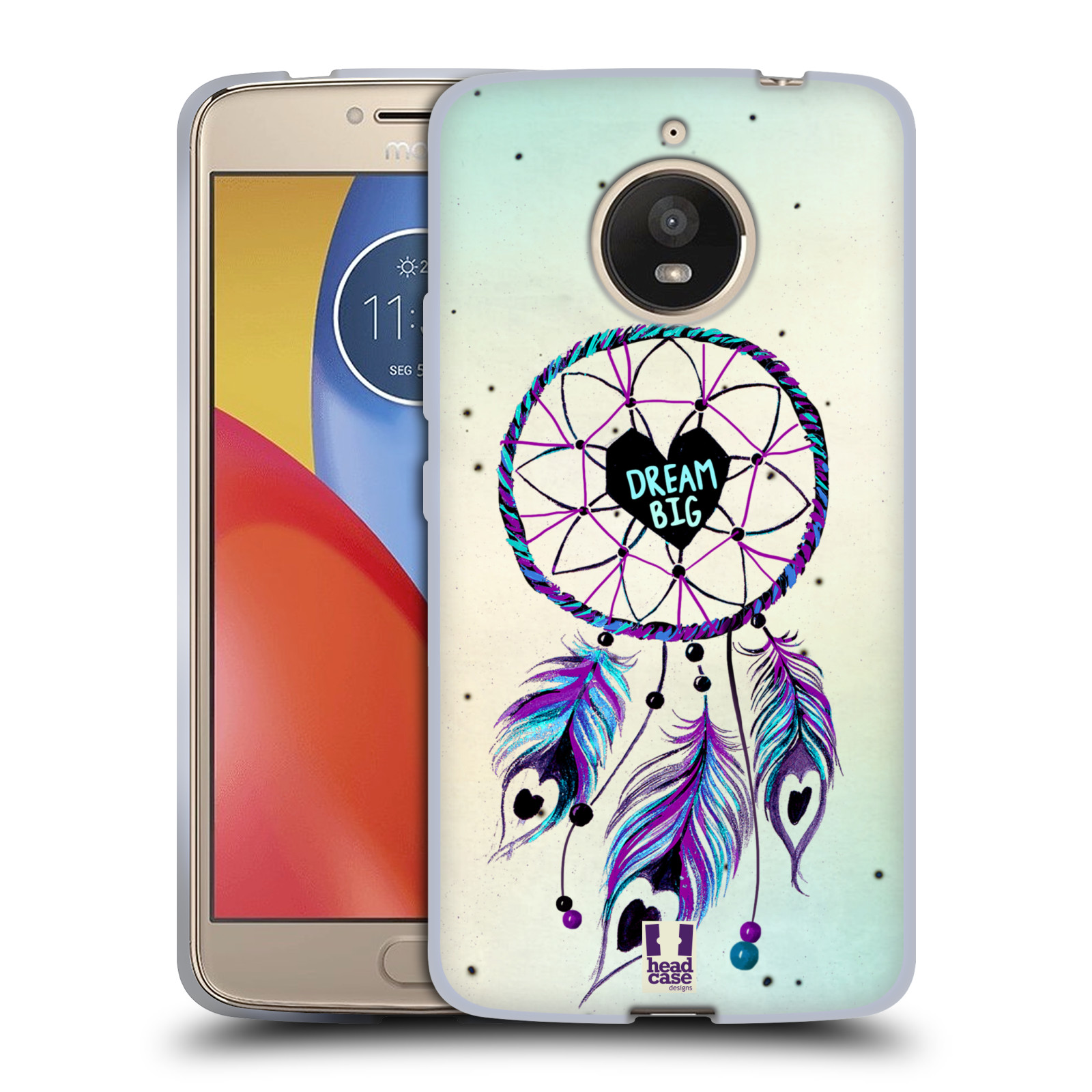 Silikonové pouzdro na mobil Lenovo Moto E4 Plus - Head Case - Lapač  Assorted Dream Big empty adeb5b4ca69
