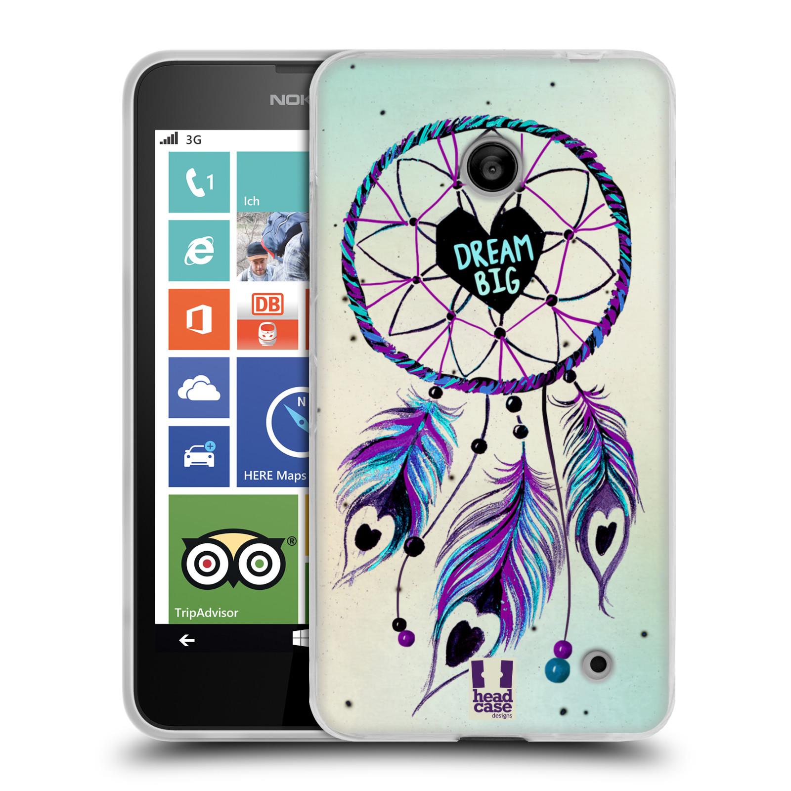 Silikonové pouzdro na mobil Nokia Lumia 635 HEAD CASE Lapač Assorted Dream Big Srdce (Silikonový kryt či obal na mobilní telefon Nokia Lumia 635 Dual SIM)