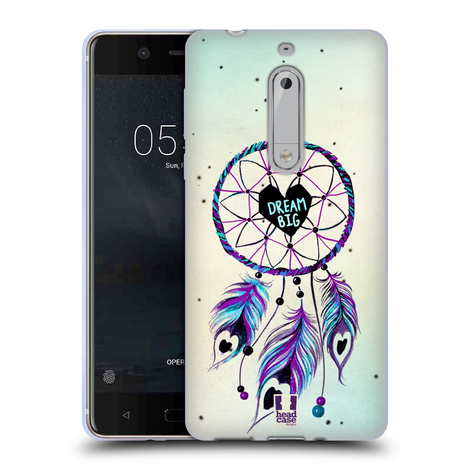 Silikonové pouzdro na mobil Nokia 5 Head Case - Lapač Assorted Dream Big Srdce
