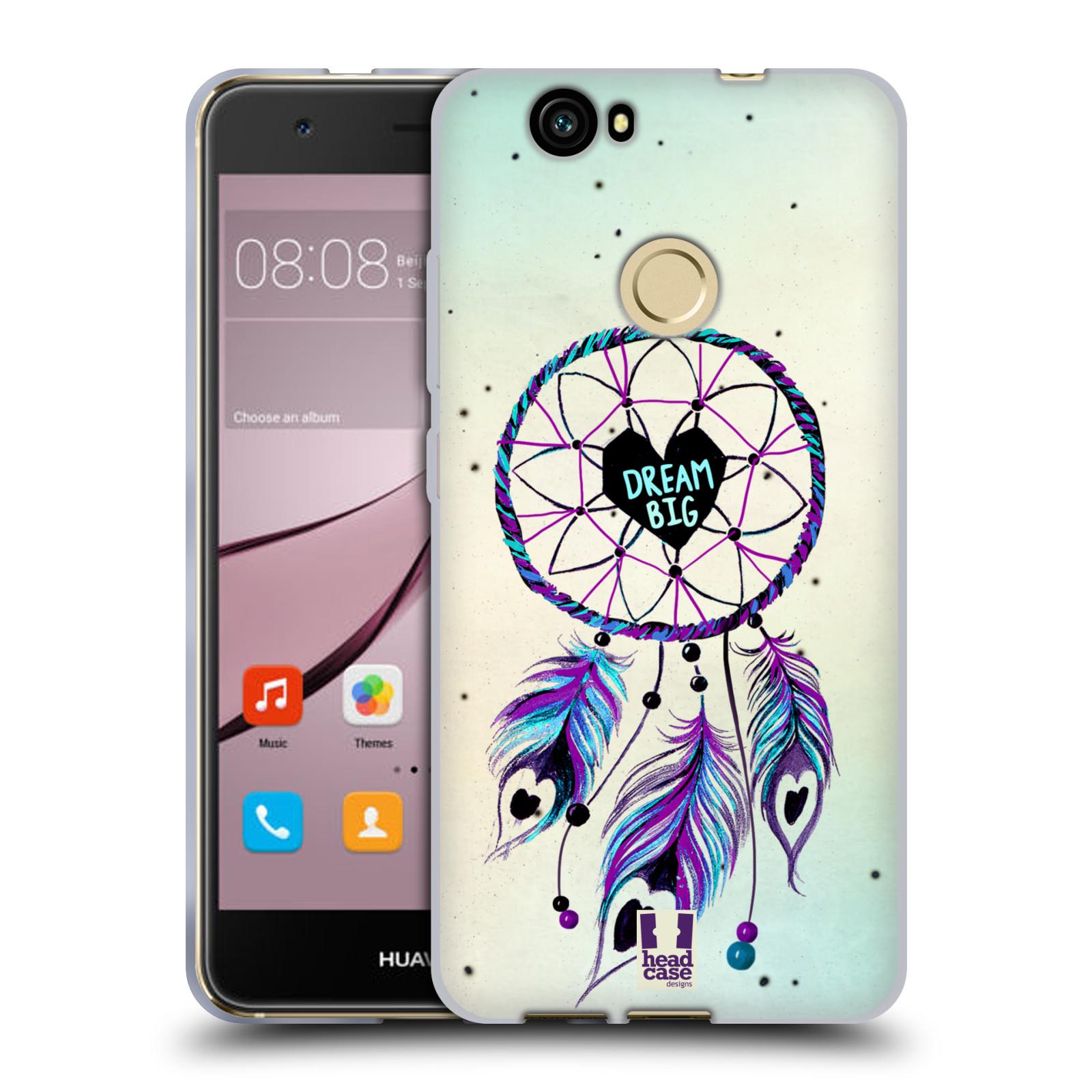 Silikonové pouzdro na mobil Huawei Nova - Head Case - Lapač Assorted Dream Big Srdce