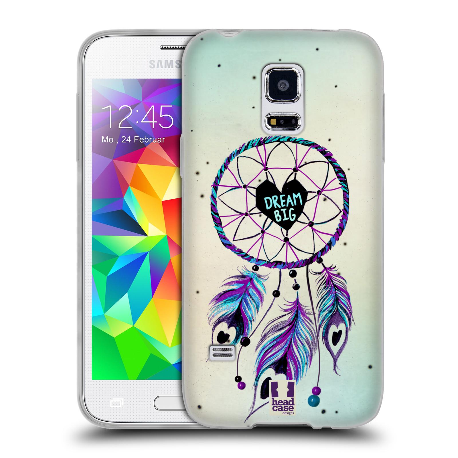 Silikonové pouzdro na mobil Samsung Galaxy S5 Mini HEAD CASE Lapač Assorted Dream Big Srdce