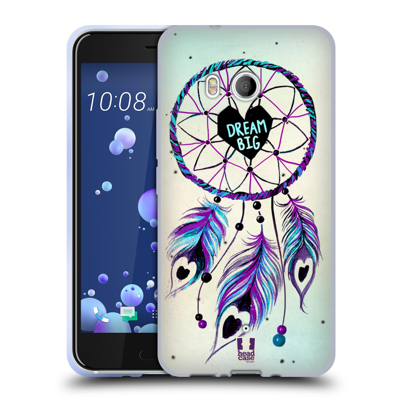 Silikonové pouzdro na mobil HTC U11 - Head Case - Lapač Assorted Dream Big Srdce