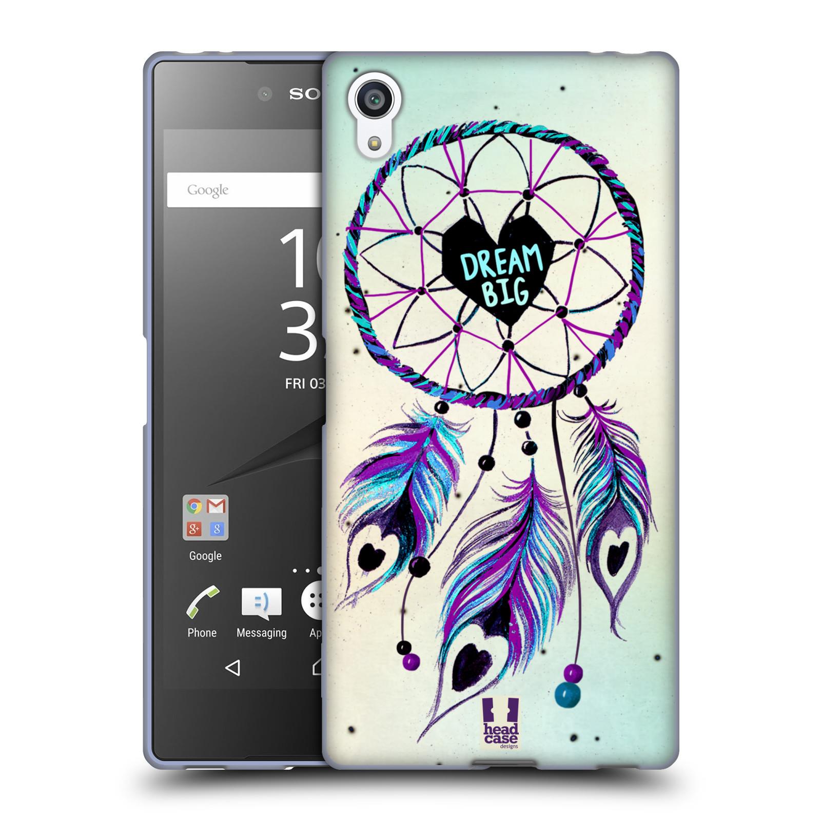 Silikonové pouzdro na mobil Sony Xperia Z5 Premium HEAD CASE Lapač Assorted Dream Big Srdce