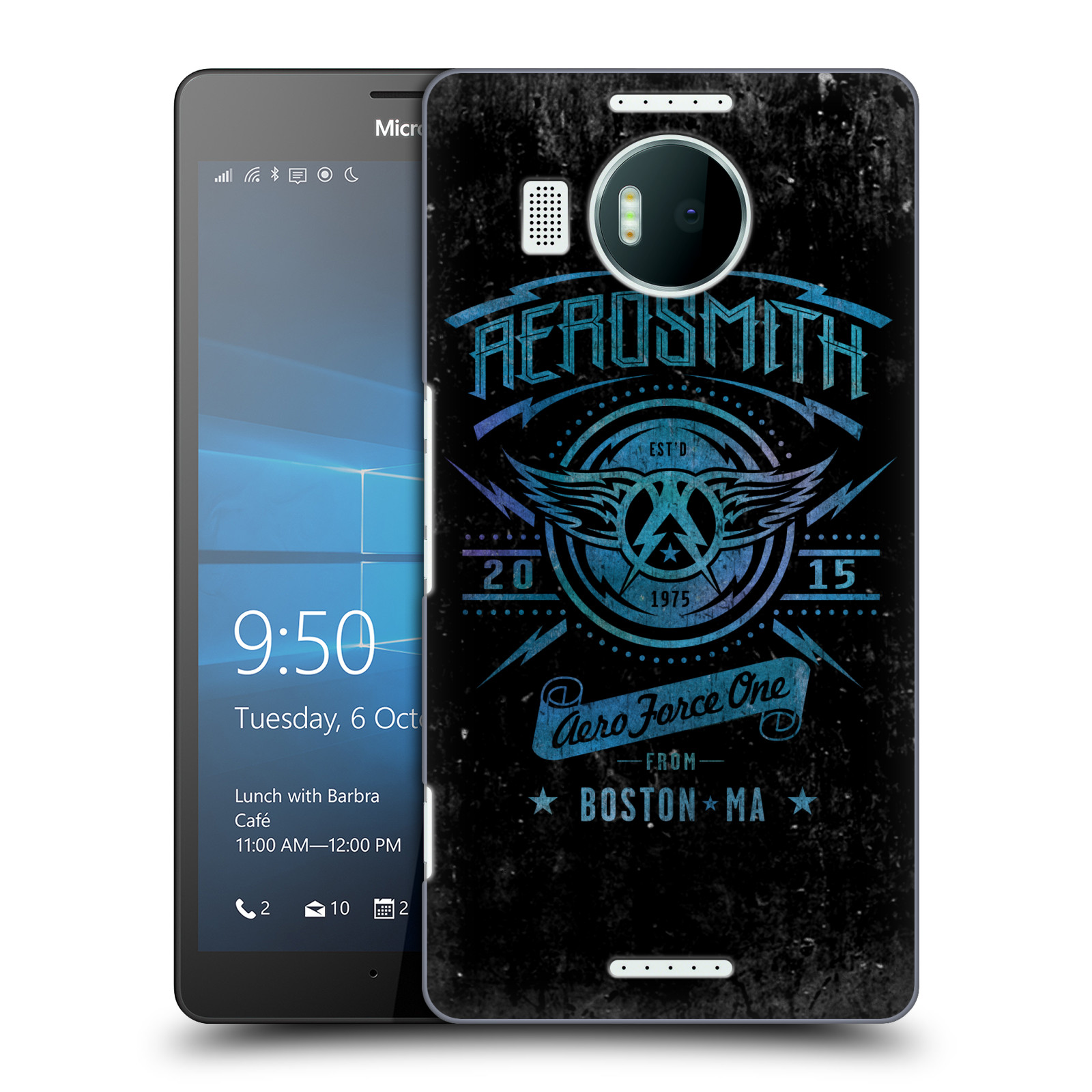 Plastové pouzdro na mobil Microsoft Lumia 950 XL HEAD CASE - Aerosmith - Aero Force One
