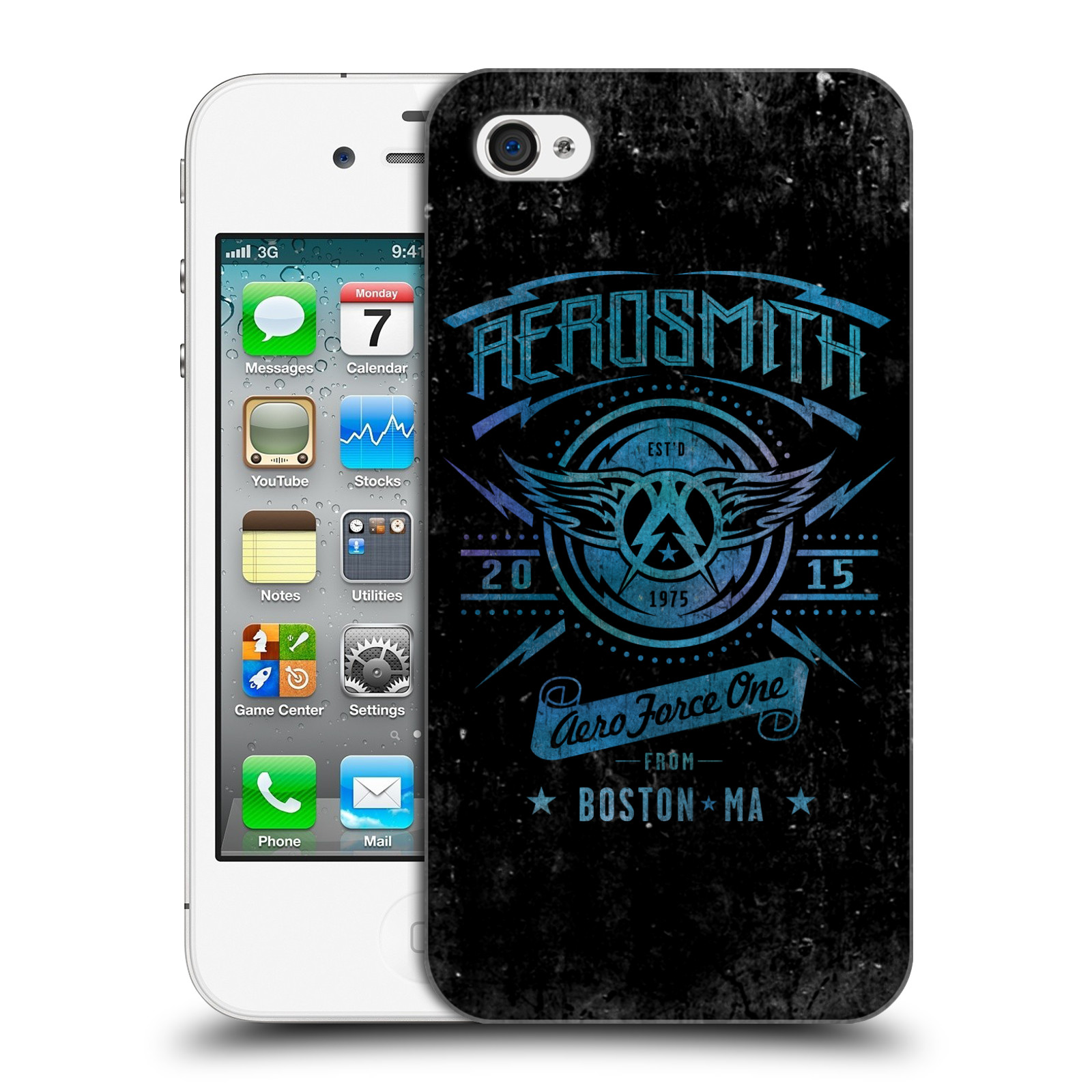 Plastové pouzdro na mobil Apple iPhone 4 a 4S HEAD CASE - Aerosmith - Aero Force One