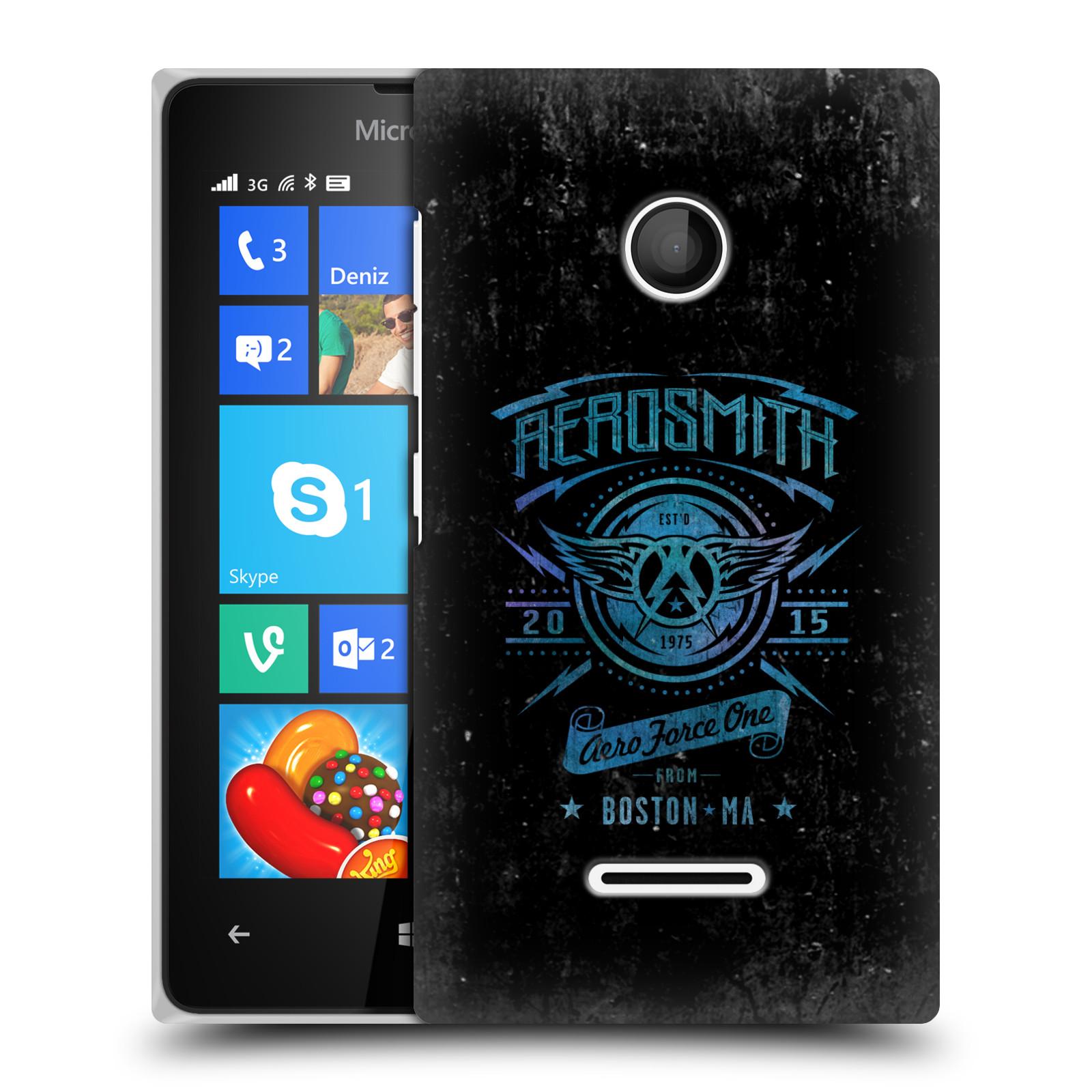 Plastové pouzdro na mobil Microsoft Lumia 435 HEAD CASE - Aerosmith - Aero Force One