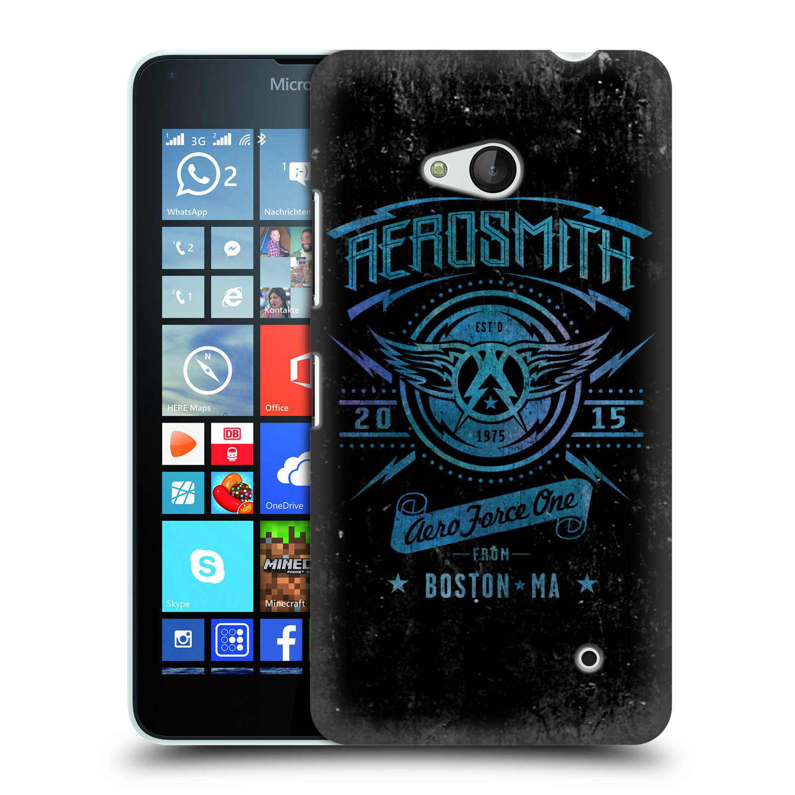Plastové pouzdro na mobil Microsoft Lumia 640 HEAD CASE - Aerosmith - Aero Force One