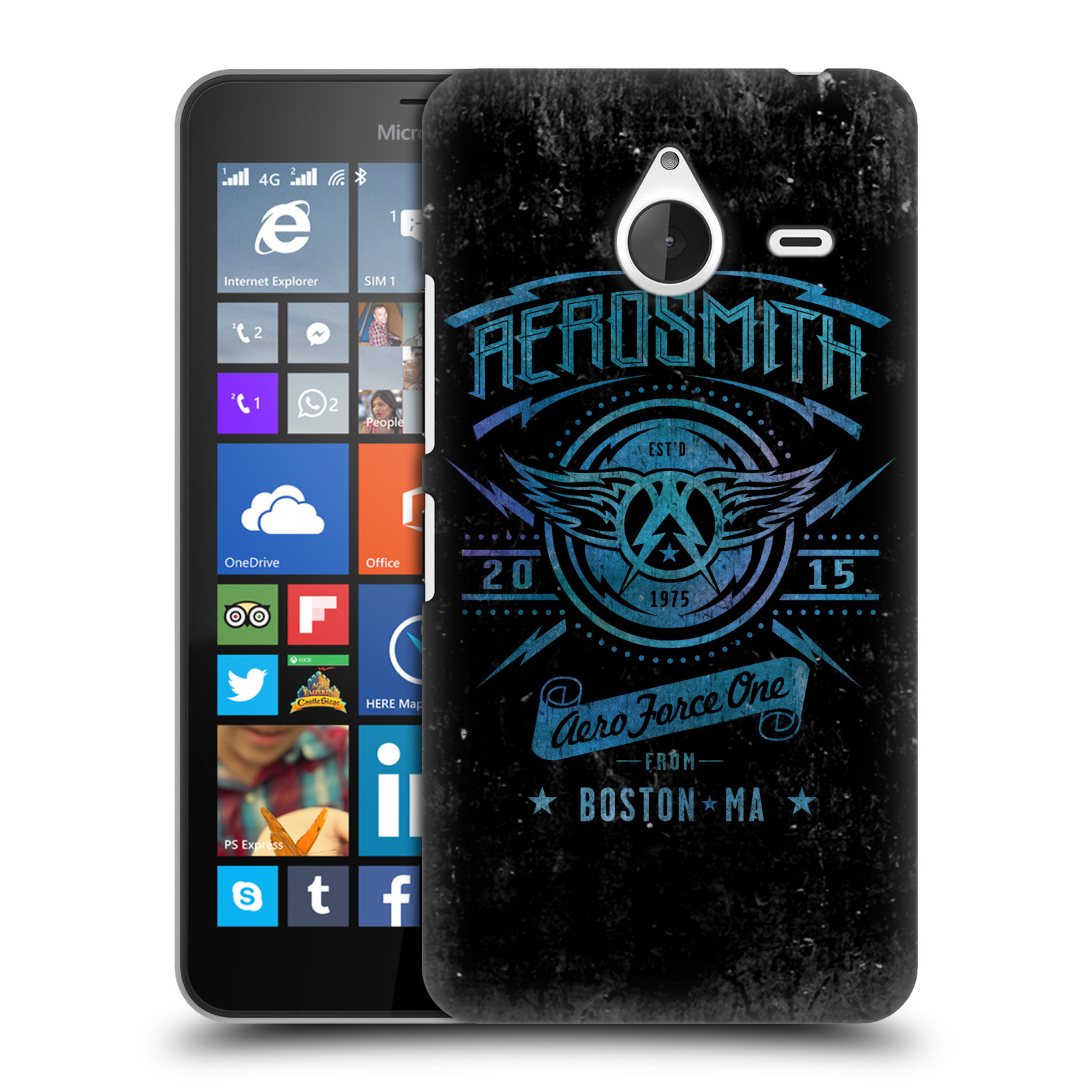 Plastové pouzdro na mobil Microsoft Lumia 640 XL HEAD CASE - Aerosmith - Aero Force One