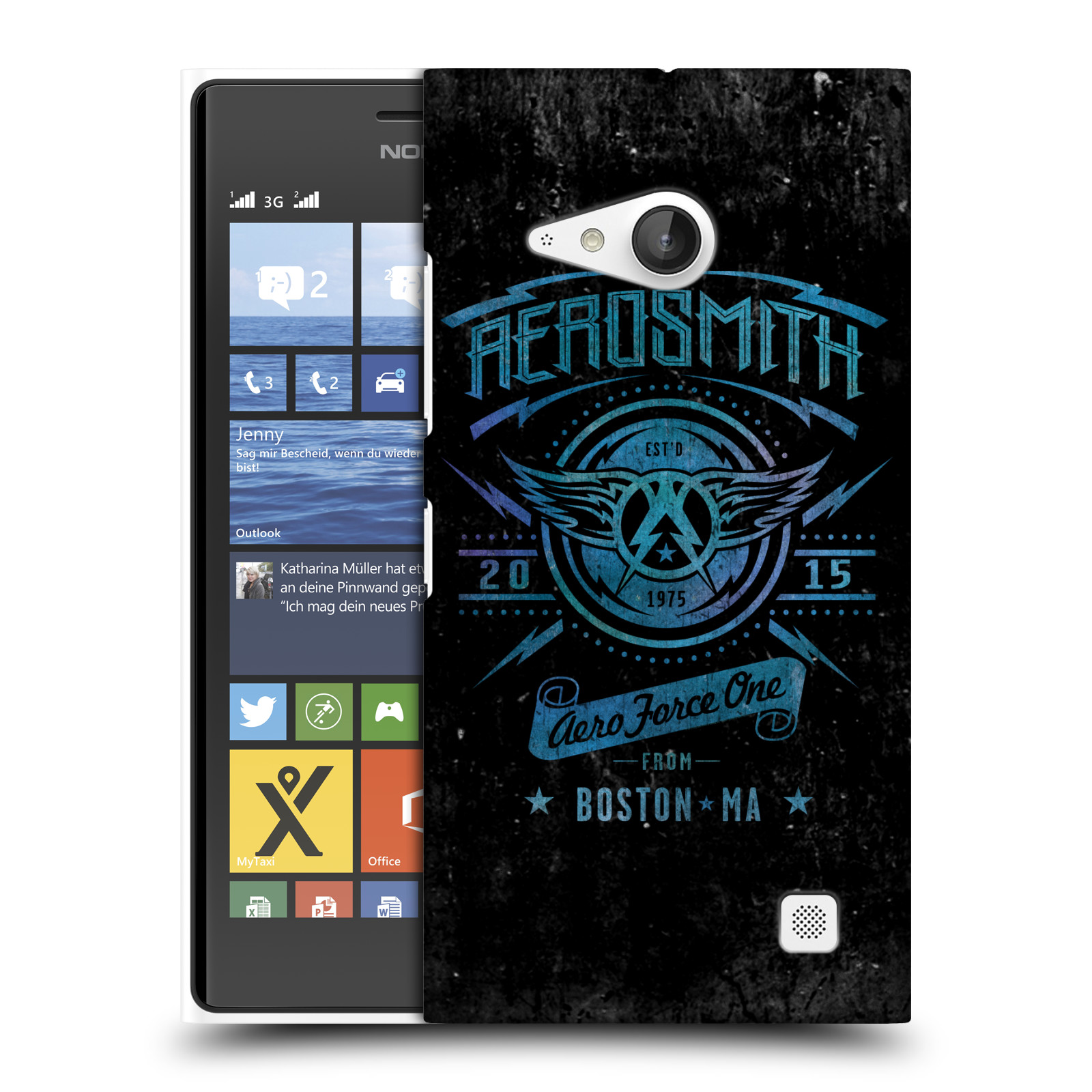 Plastové pouzdro na mobil Nokia Lumia 730 Dual SIM HEAD CASE - Aerosmith - Aero Force One