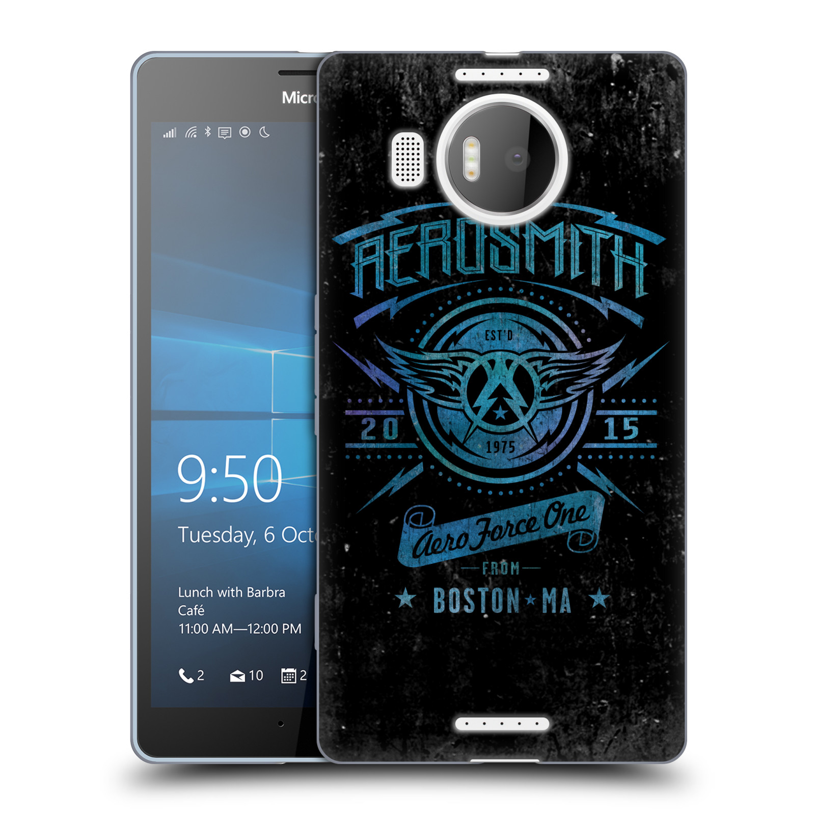 Silikonové pouzdro na mobil Microsoft Lumia 950 XL HEAD CASE - Aerosmith - Aero Force One