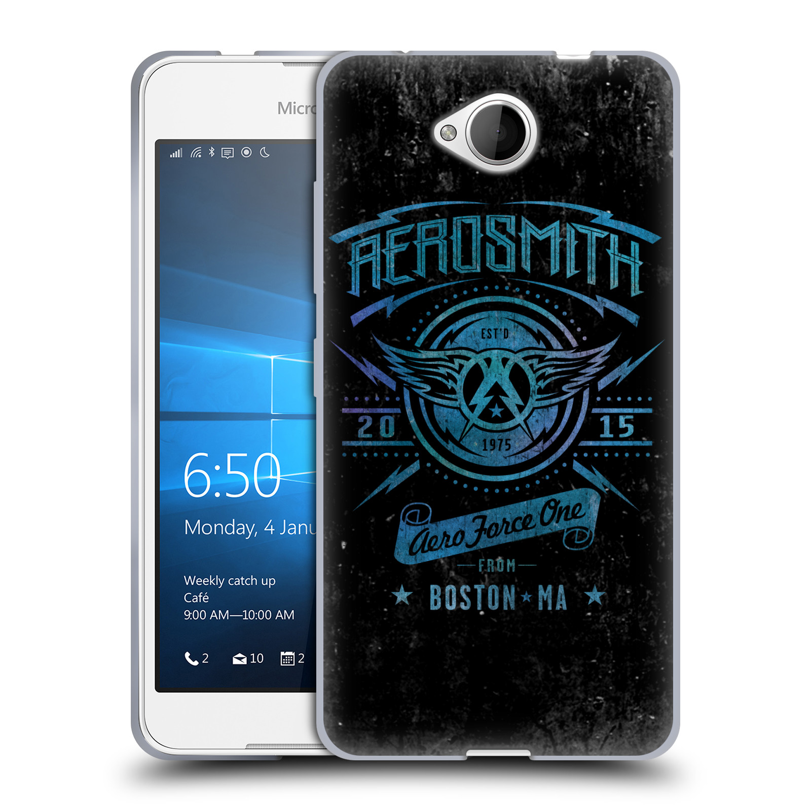 Silikonové pouzdro na mobil Microsoft Lumia 650 HEAD CASE - Aerosmith - Aero Force One
