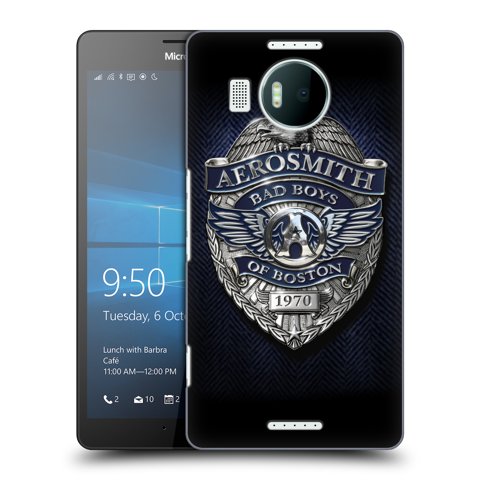 Plastové pouzdro na mobil Microsoft Lumia 950 XL HEAD CASE - Aerosmith - Bad Boys of Boston