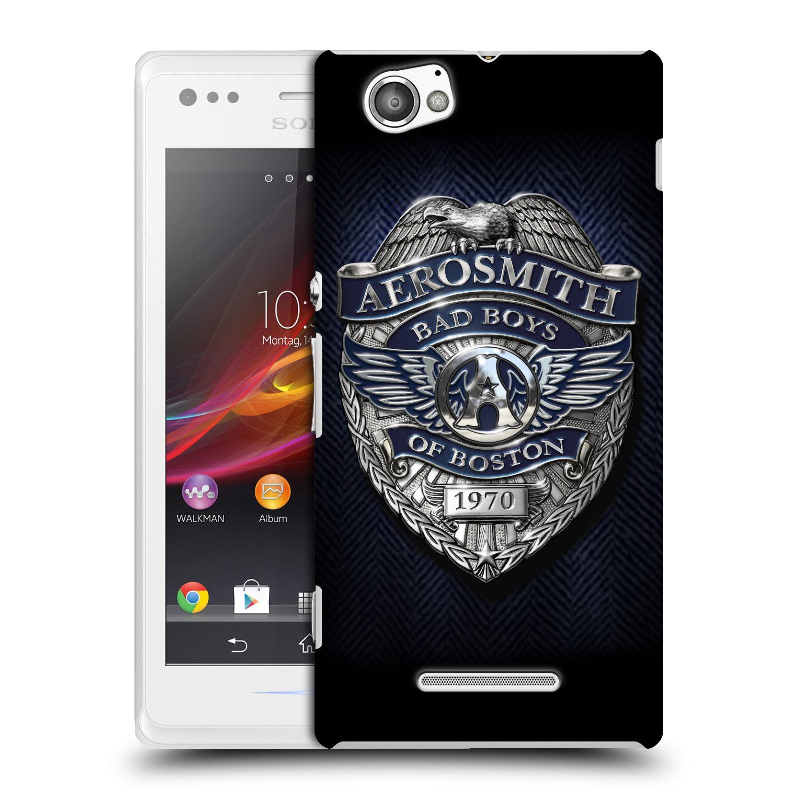 Plastové pouzdro na mobil Sony Xperia M C1905 HEAD CASE - Aerosmith - Bad Boys of Boston