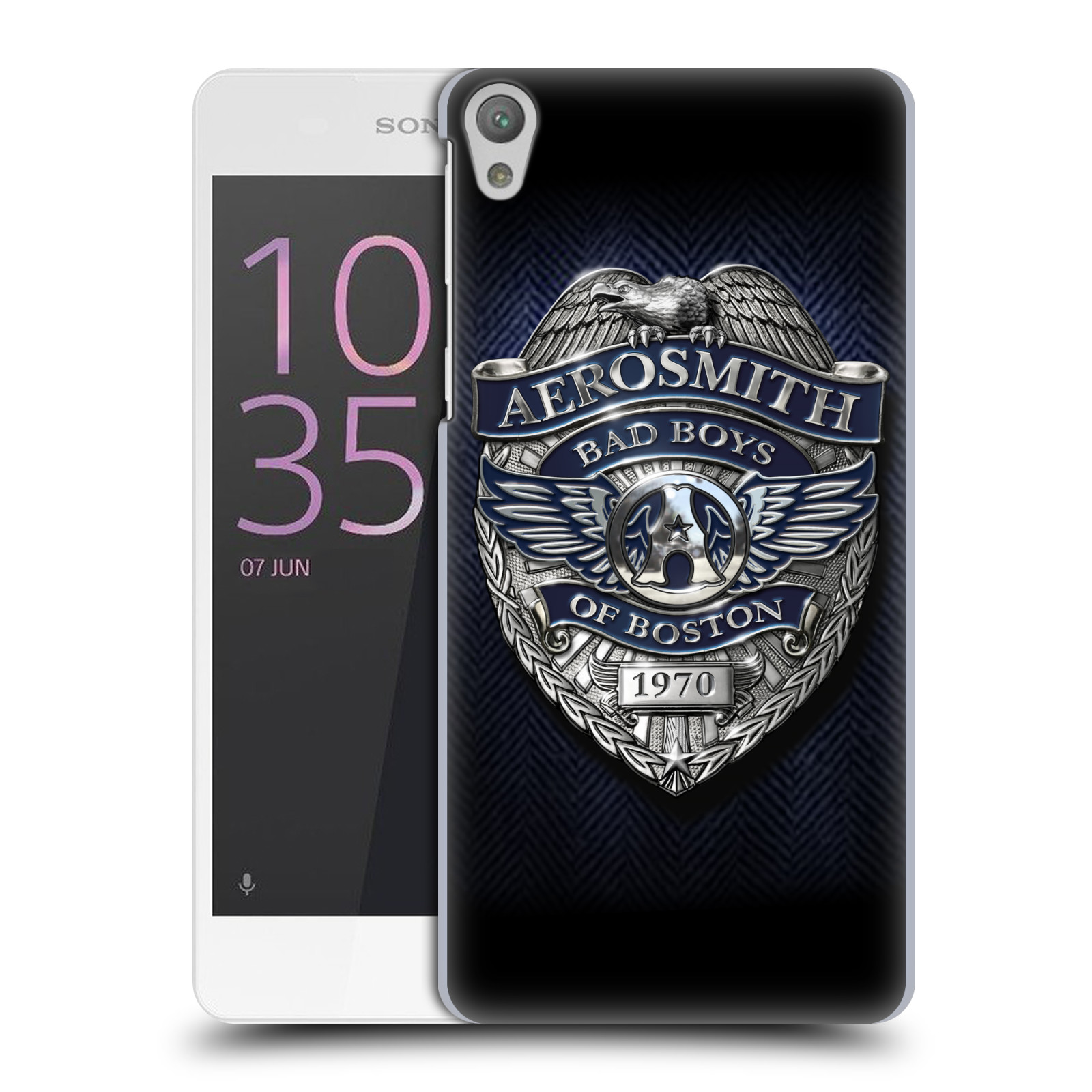 Plastové pouzdro na mobil Sony Xperia E5 HEAD CASE - Aerosmith - Bad Boys of Boston