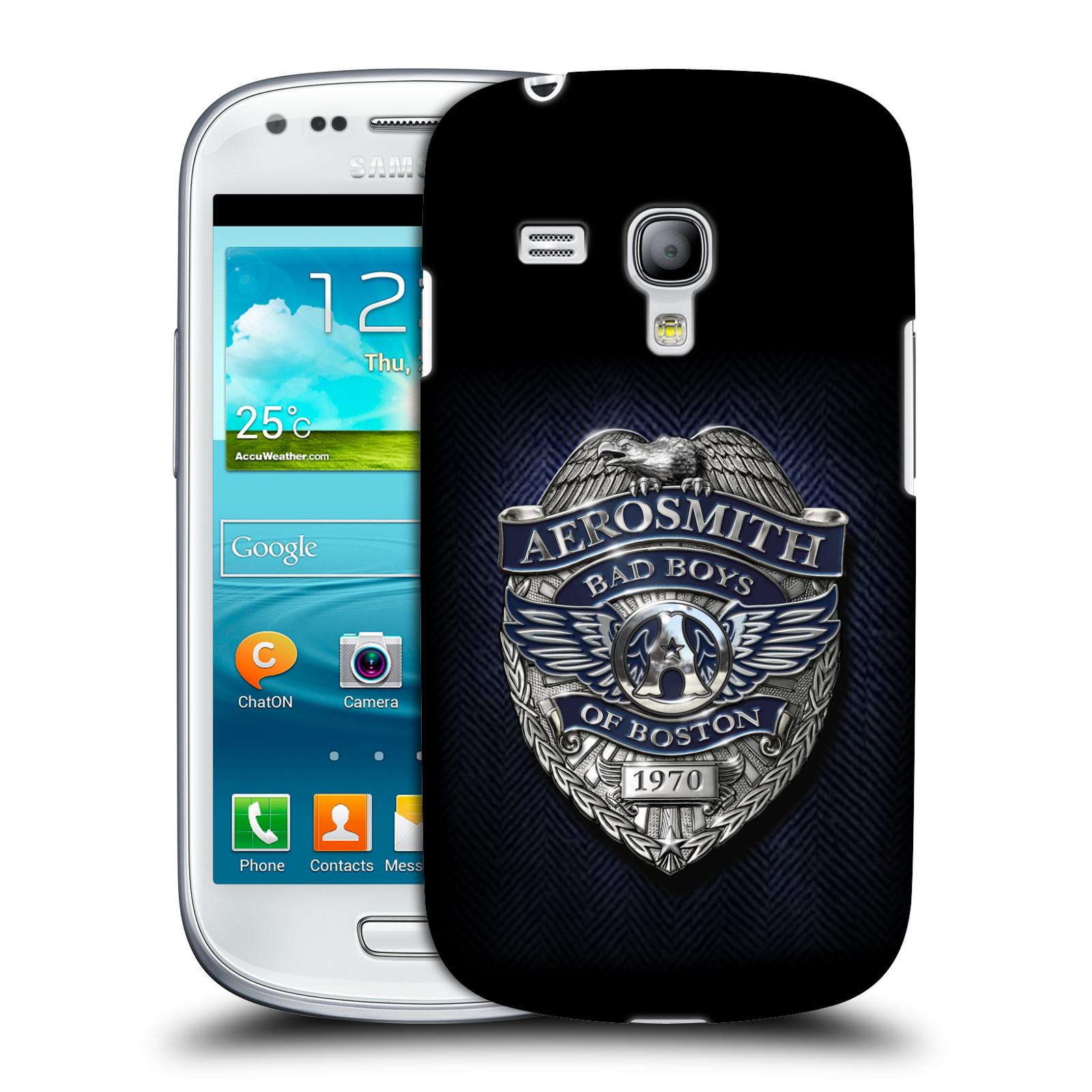 Silikonové pouzdro na mobil Samsung Galaxy S III Mini VE HEAD CASE - Aerosmith - Bad Boys of Boston (Plastový kryt či obal na mobilní telefon s licencovaným motivem Aerosmith pro Samsung Galaxy S3 Mini VE GT-i8200)
