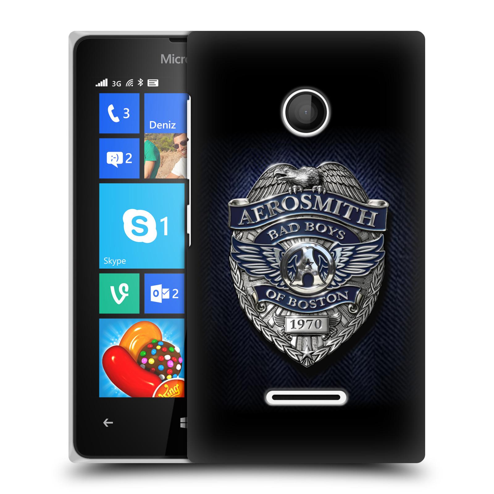 Plastové pouzdro na mobil Microsoft Lumia 435 HEAD CASE - Aerosmith - Bad Boys of Boston