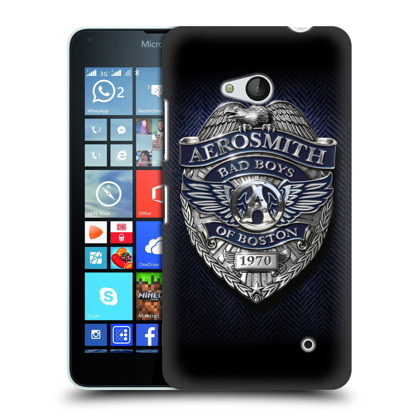 Plastové pouzdro na mobil Microsoft Lumia 640 HEAD CASE - Aerosmith - Bad Boys of Boston