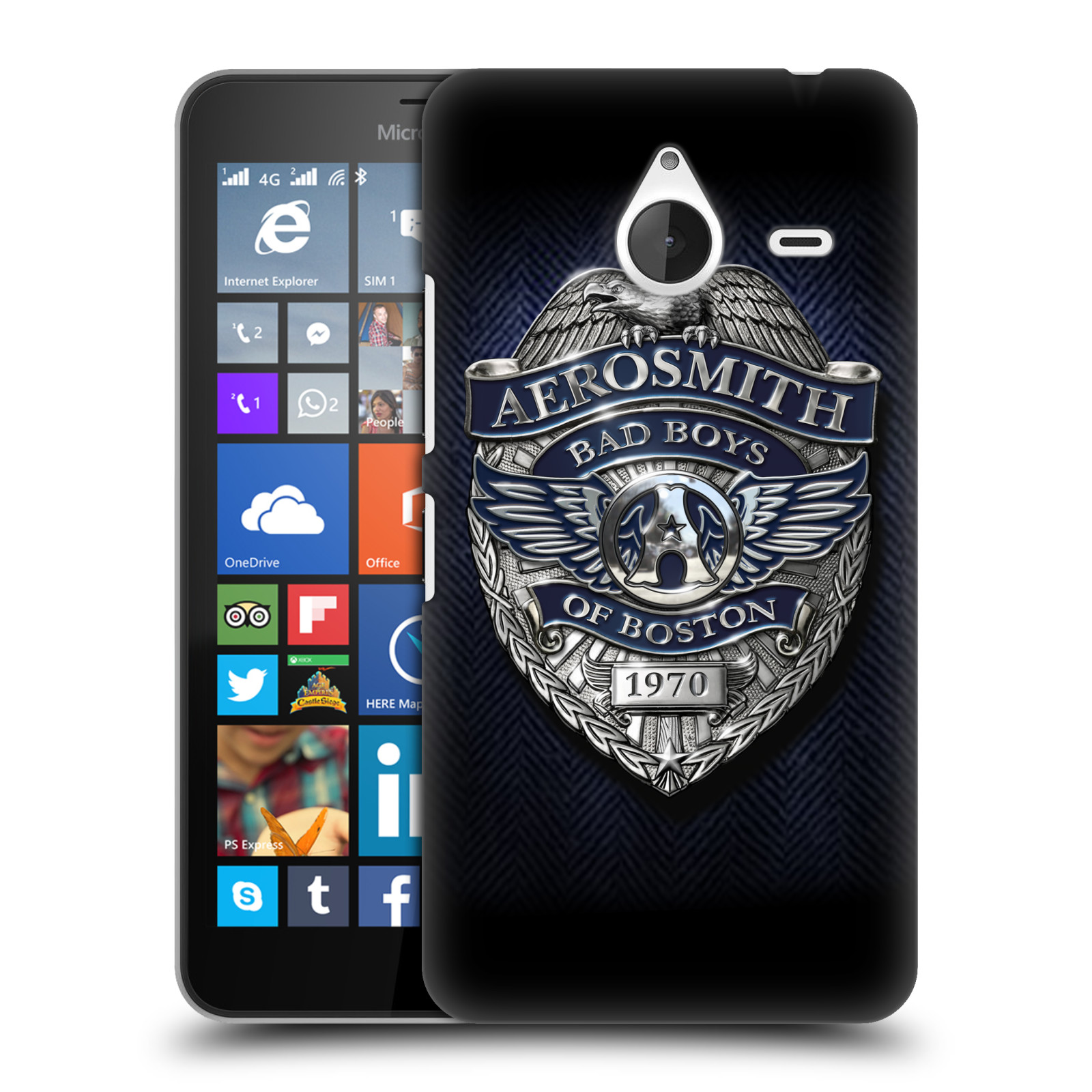 Plastové pouzdro na mobil Microsoft Lumia 640 XL HEAD CASE - Aerosmith - Bad Boys of Boston