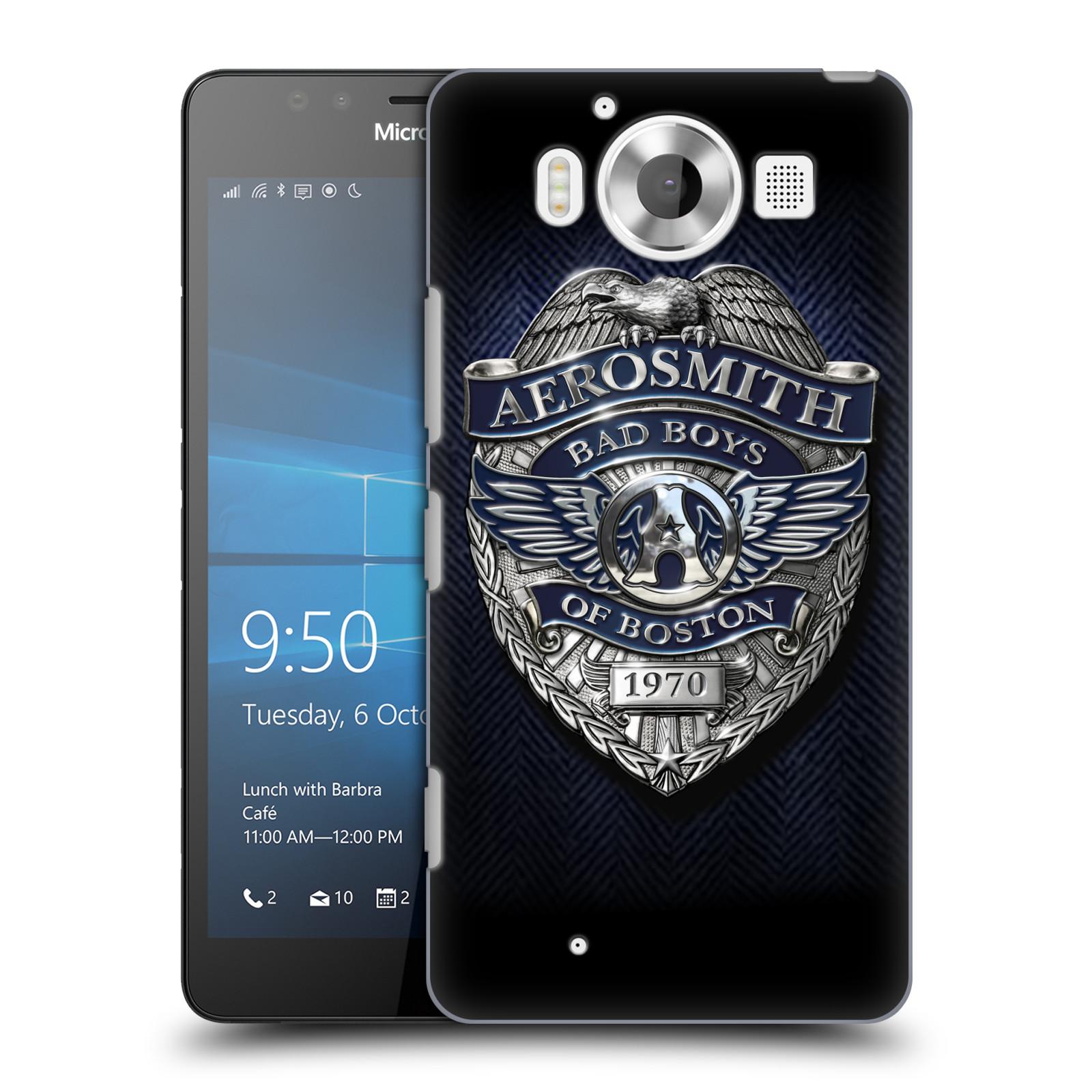 Plastové pouzdro na mobil Microsoft Lumia 950 HEAD CASE - Aerosmith - Bad Boys of Boston