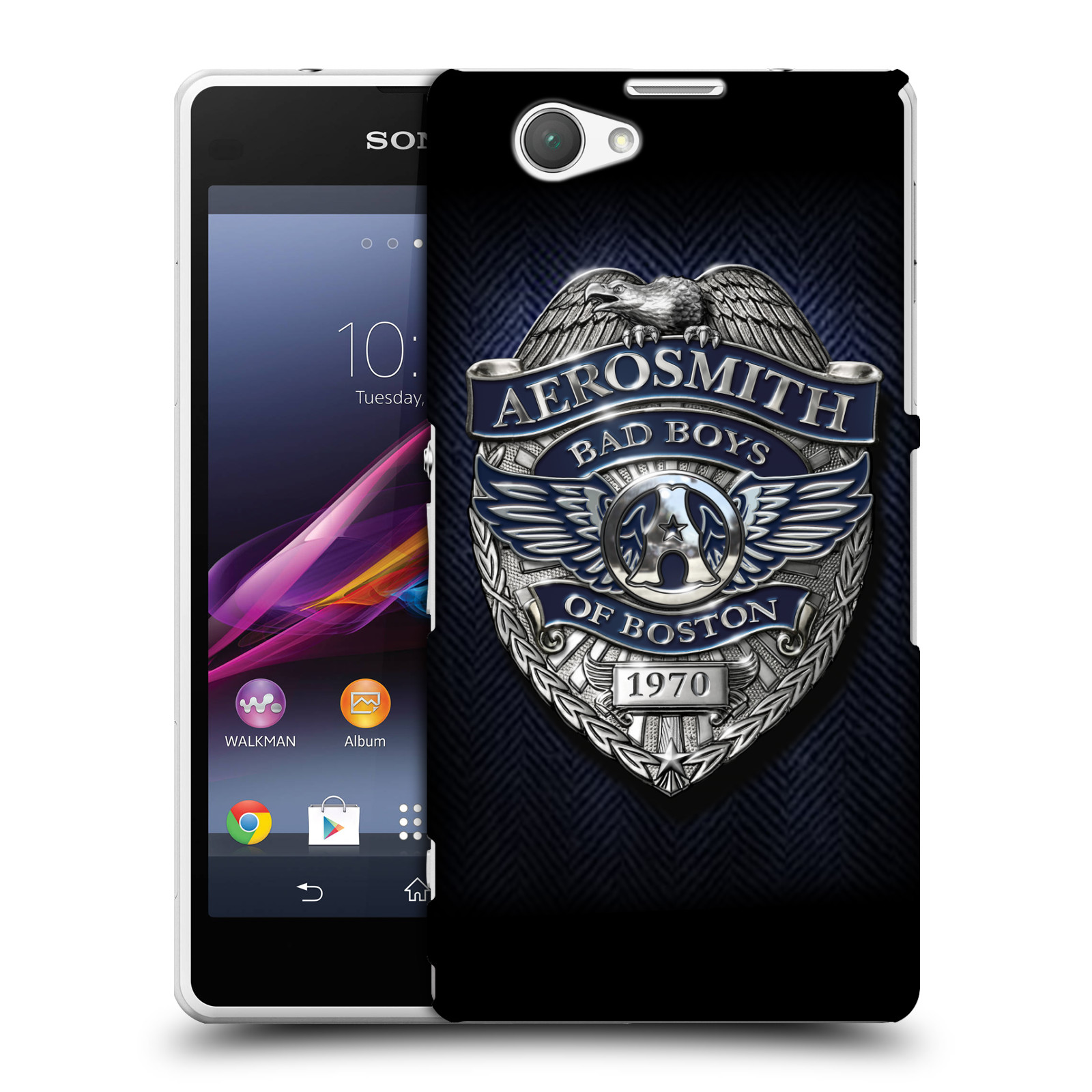 Plastové pouzdro na mobil Sony Xperia Z1 Compact D5503 HEAD CASE - Aerosmith - Bad Boys of Boston