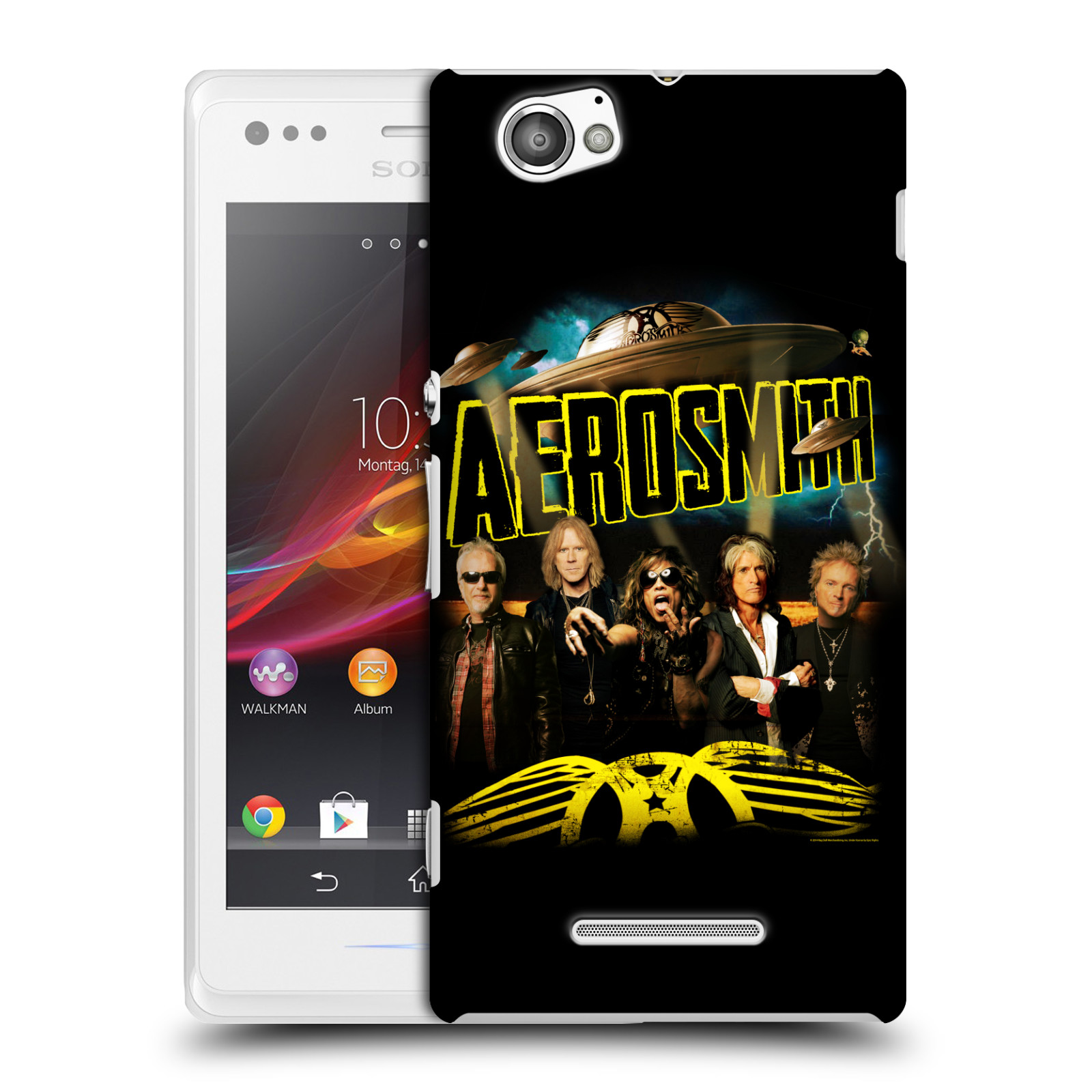 Plastové pouzdro na mobil Sony Xperia M C1905 HEAD CASE - Aerosmith - Global Warming