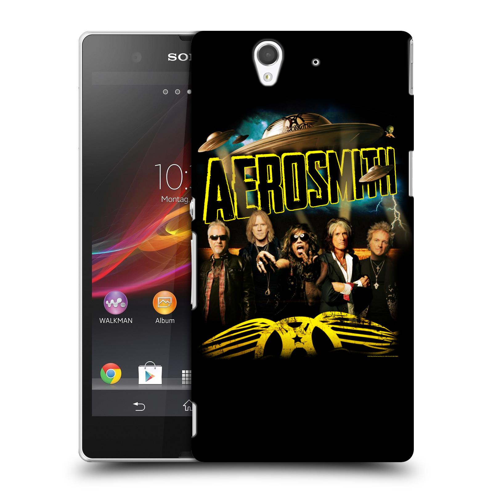 Plastové pouzdro na mobil Sony Xperia Z C6603 HEAD CASE - Aerosmith - Global Warming (Plastový kryt či obal na mobilní telefon s licencovaným motivem Aerosmith pro Sony Xperia Z)