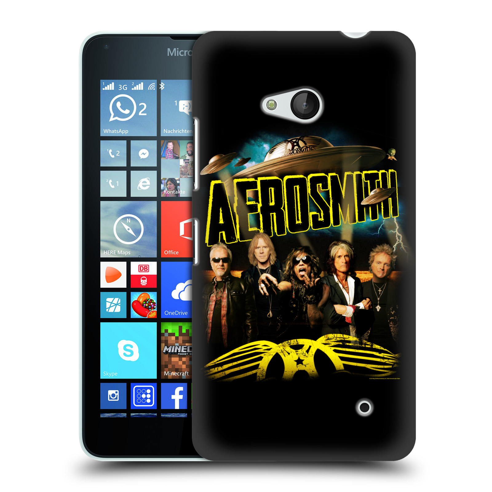 Plastové pouzdro na mobil Microsoft Lumia 640 HEAD CASE - Aerosmith - Global Warming