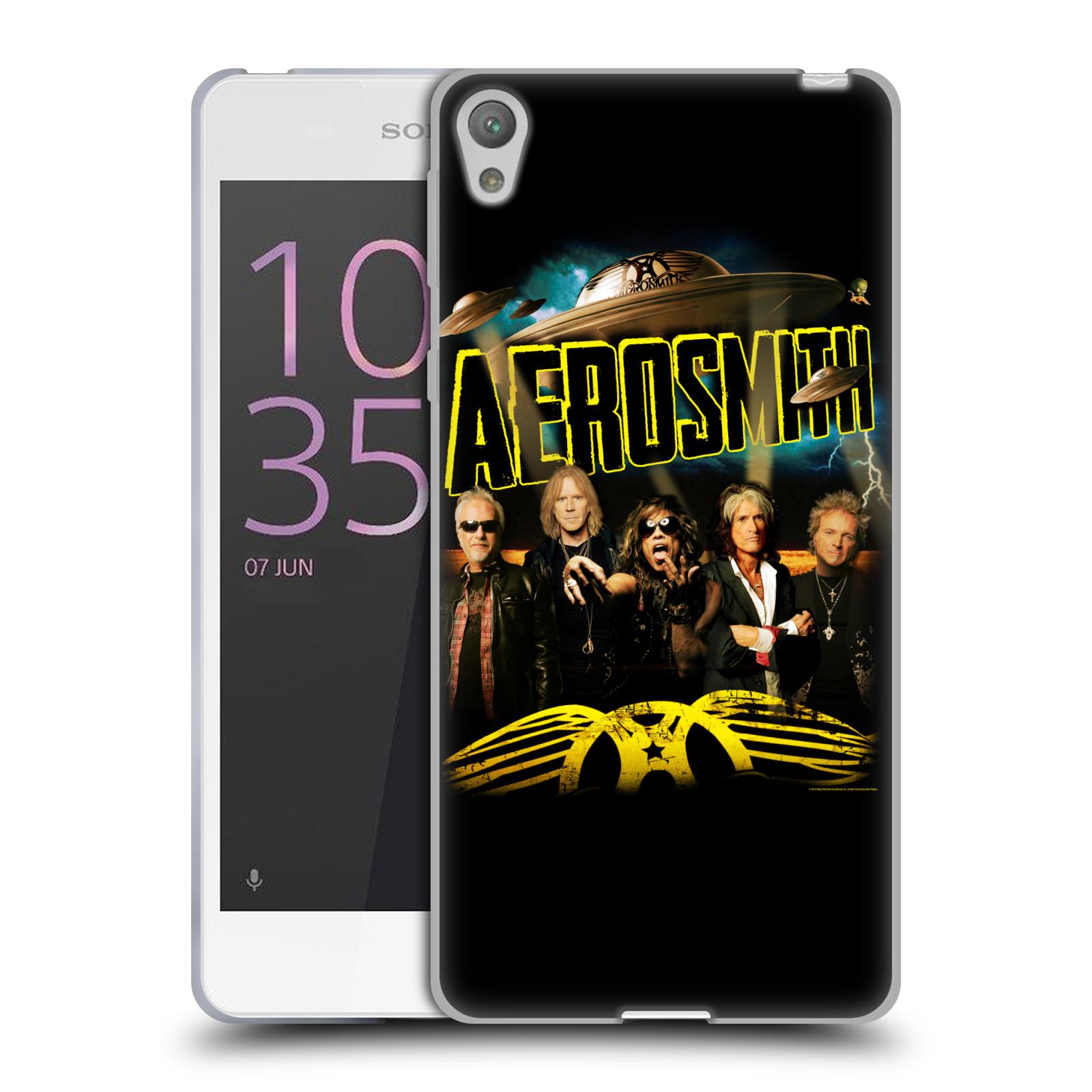 Silikonové pouzdro na mobil Sony Xperia E5 HEAD CASE - Aerosmith - Global Warming (Silikonový kryt či obal na mobilní telefon s licencovaným motivem Aerosmith pro Sony Xperia E5 F3311)
