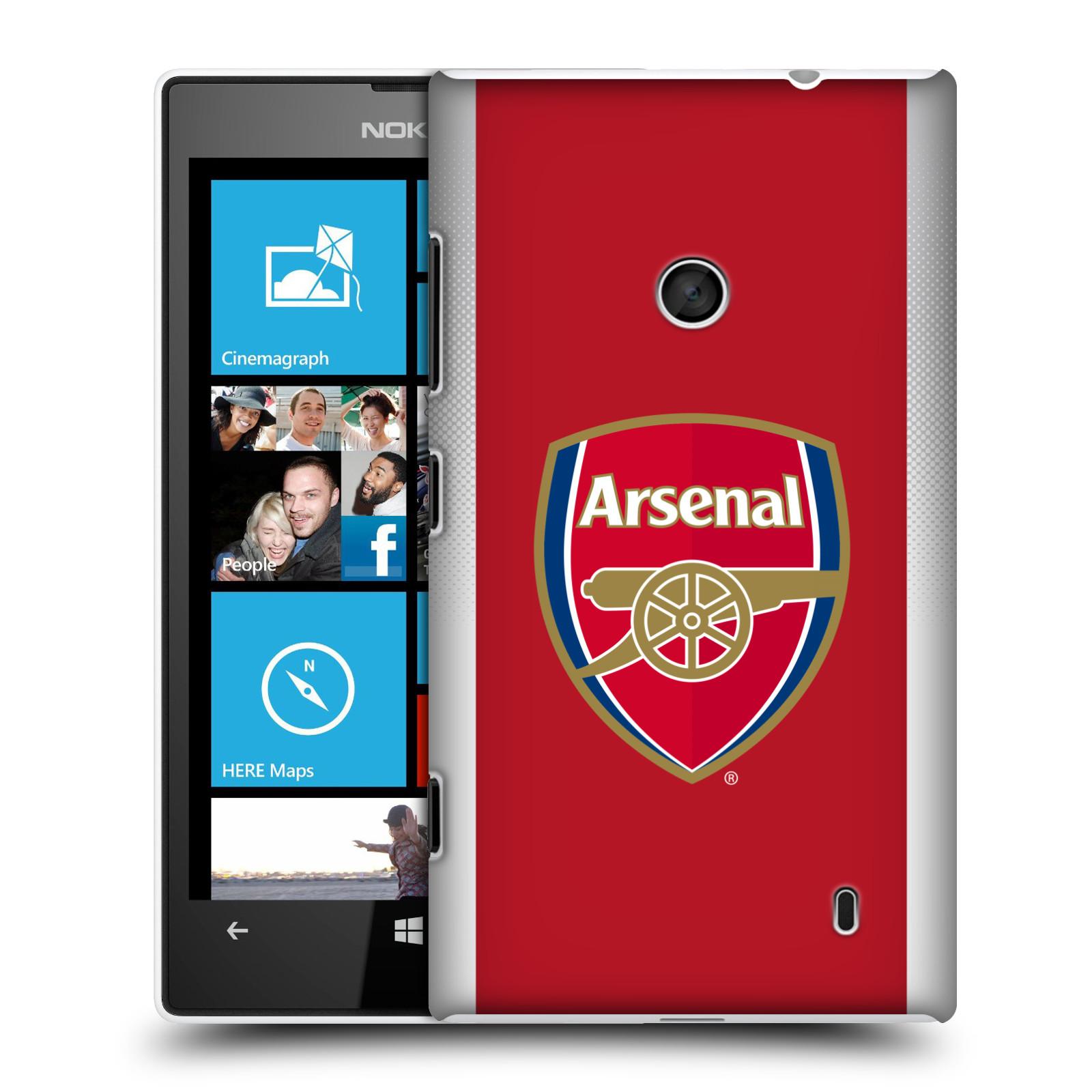 Plastové pouzdro na mobil Nokia Lumia 520 - Head Case - Arsenal FC - Logo klubu