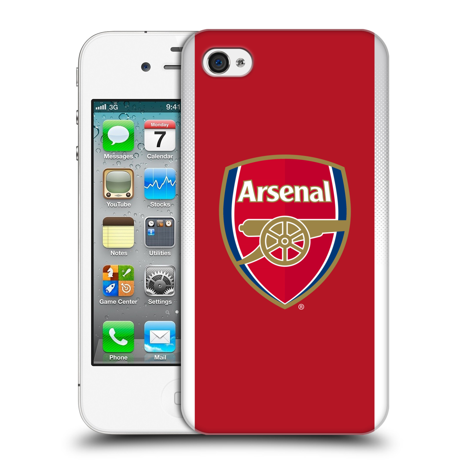 Plastové pouzdro na mobil Apple iPhone 4 a 4S - Head Case - Arsenal FC - Logo klubu