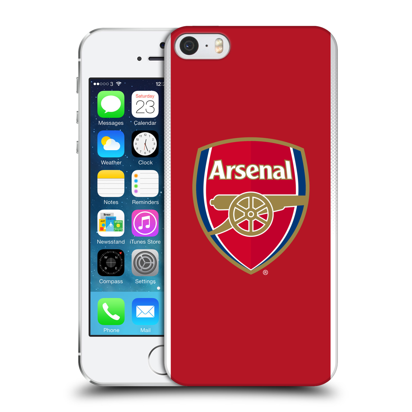 Plastové pouzdro na mobil Apple iPhone SE, 5 a 5S - Head Case - Arsenal FC - Logo klubu