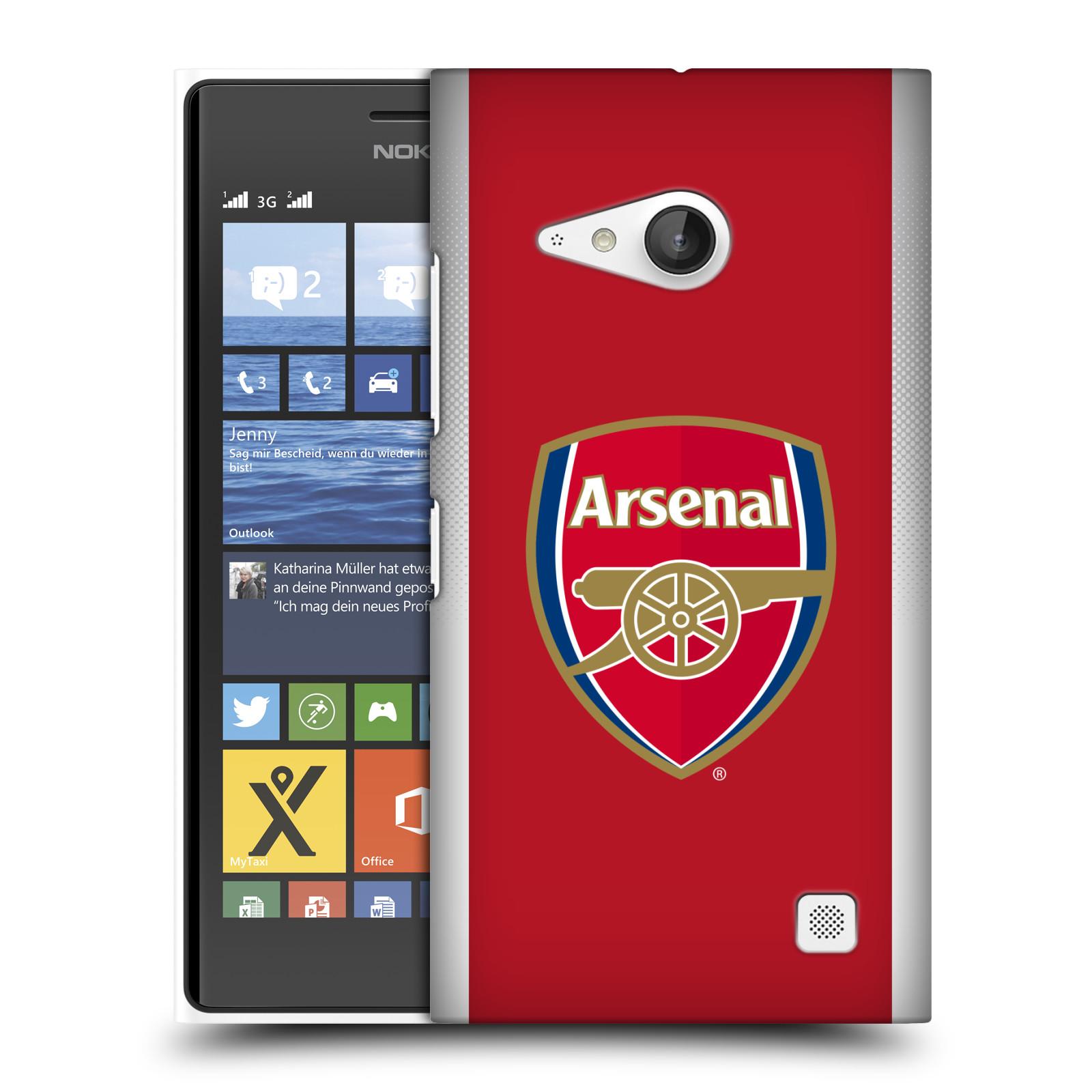 Plastové pouzdro na mobil Nokia Lumia 730 Dual SIM - Head Case - Arsenal FC - Logo klubu (Plastový kryt či obal na mobilní telefon s motivem klubu Arsenal FC - Logo klubu pro Nokia Lumia 730 Dual SIM)