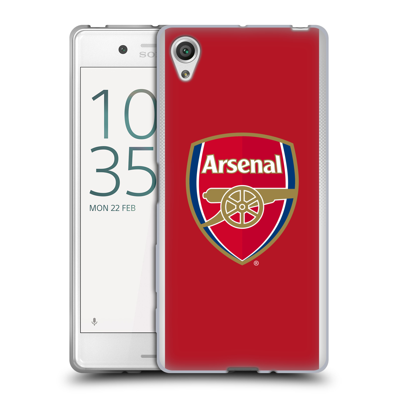 Silikonové pouzdro na mobil Sony Xperia X - Head Case - Arsenal FC - Logo klubu