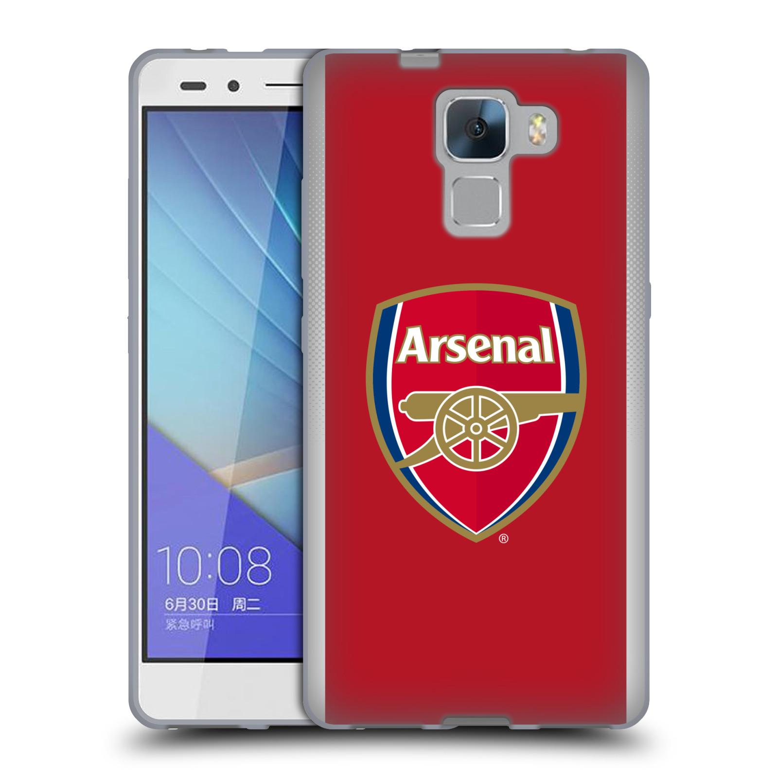 Silikonové pouzdro na mobil Honor 7 - Head Case - Arsenal FC - Logo klubu