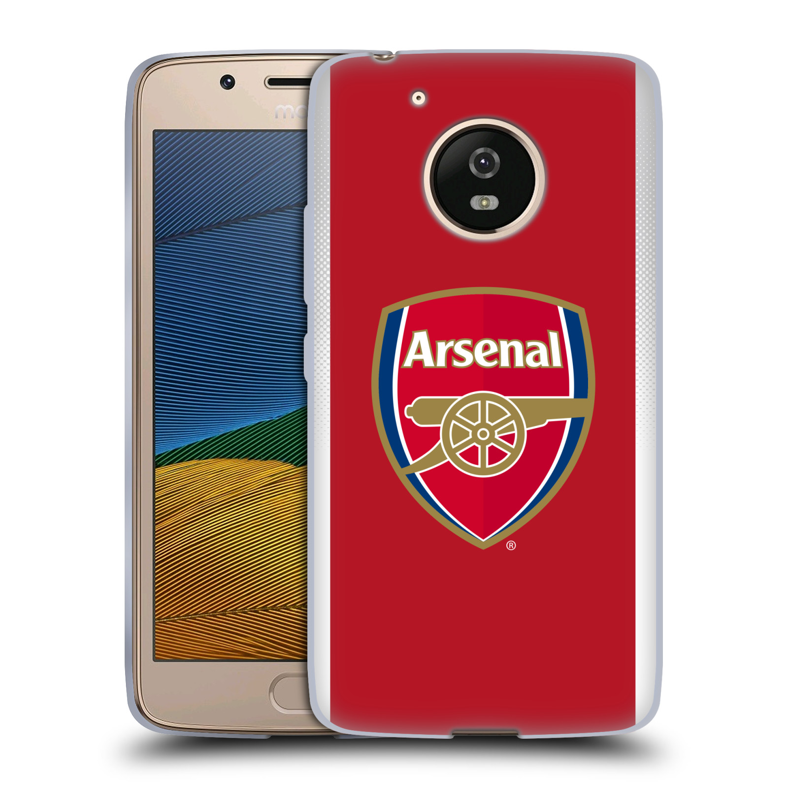Silikonové pouzdro na mobil Lenovo Moto G5 - Head Case - Arsenal FC - Logo klubu