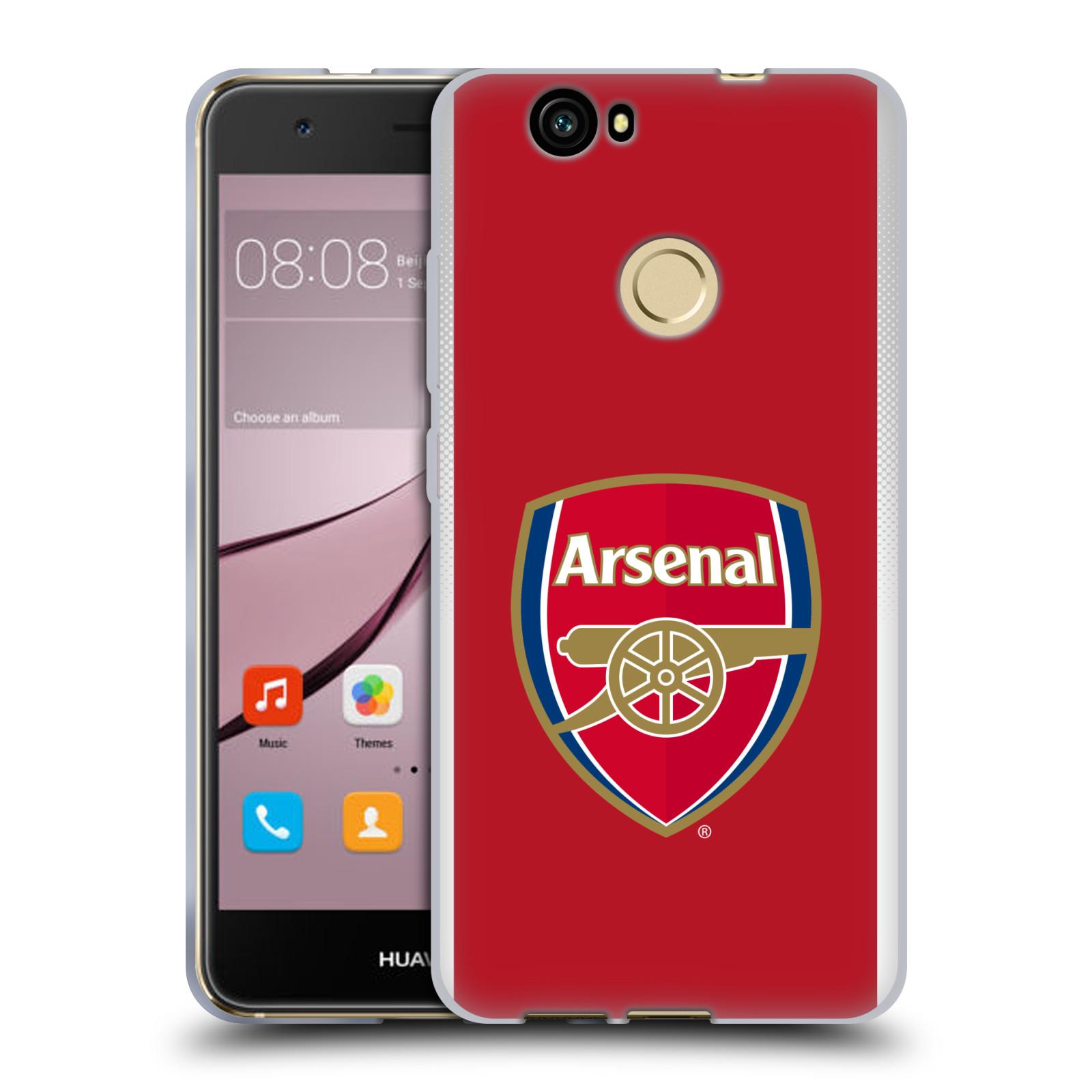 Silikonové pouzdro na mobil Huawei Nova - Head Case - Arsenal FC - Logo klubu
